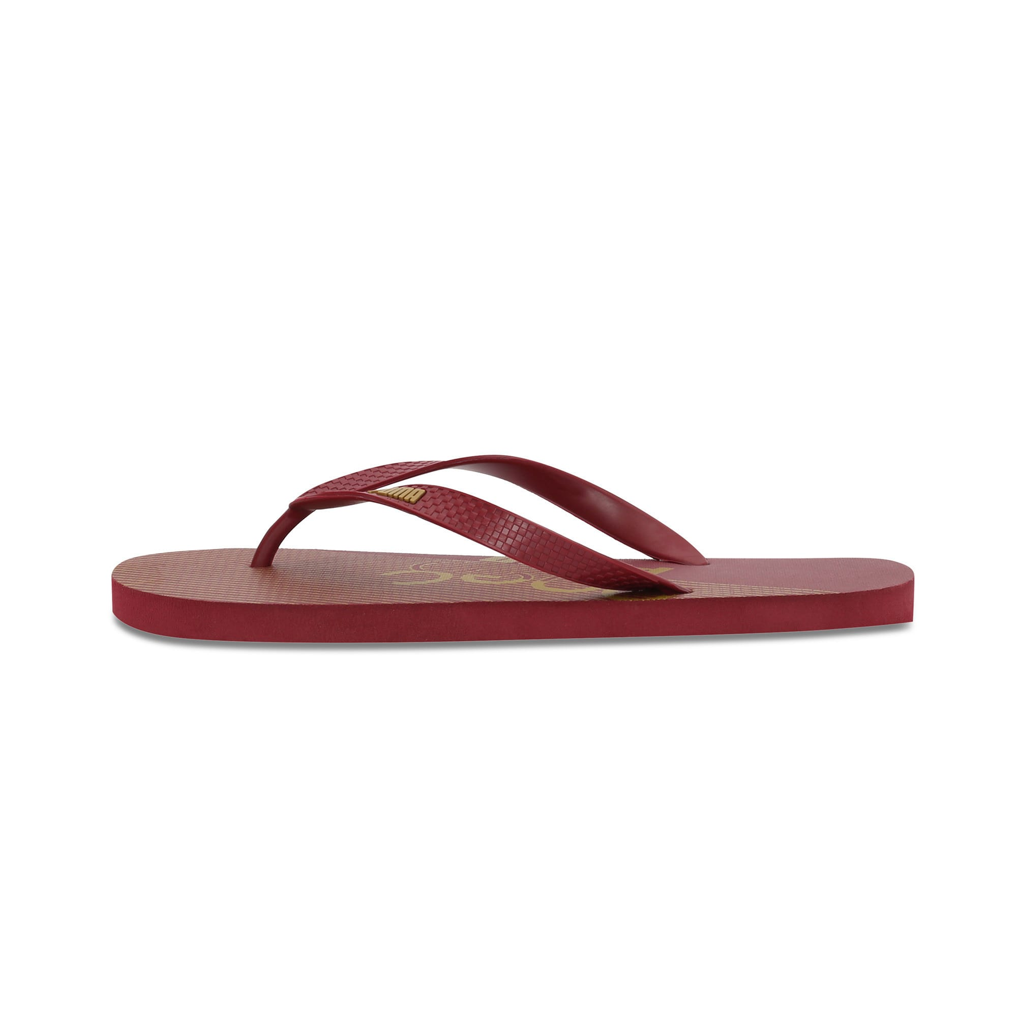 Thumbnail 1 of one8 FF IDP Unisex Flip Flops, Rhubarb-Puma Team Gold, medium-IND