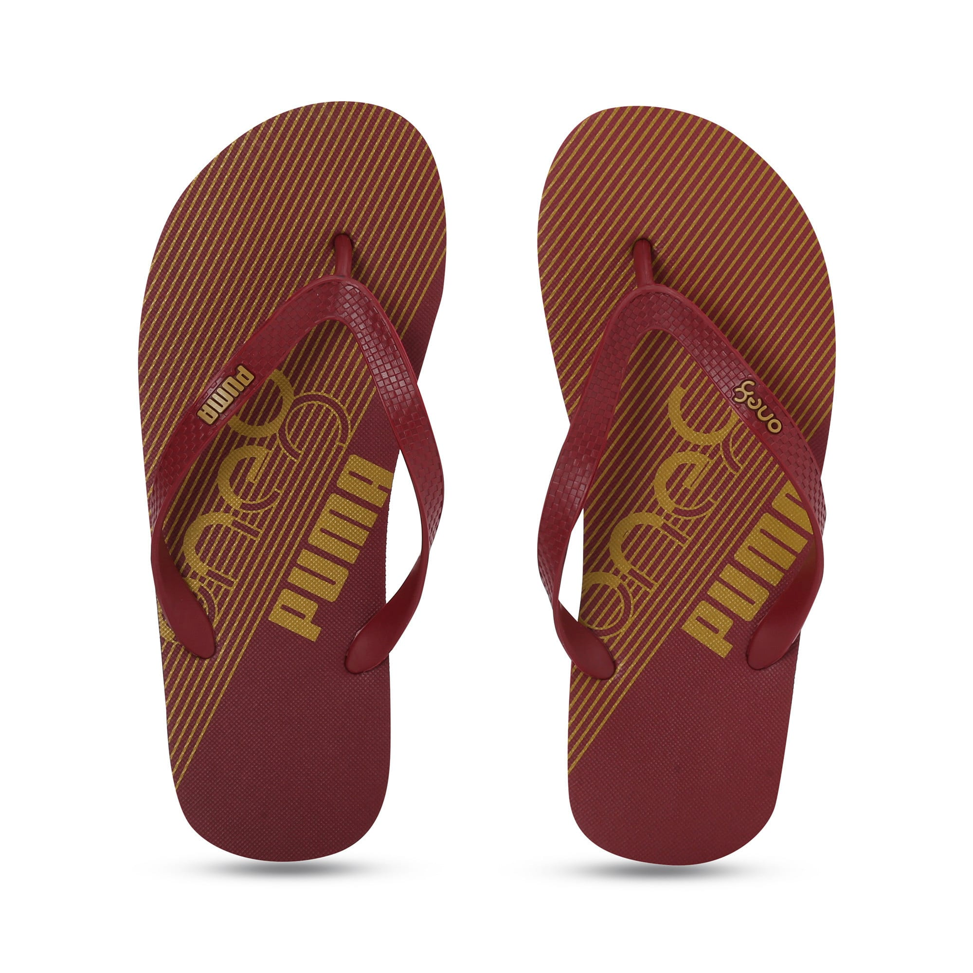 Thumbnail 6 of one8 FF IDP Unisex Flip Flops, Rhubarb-Puma Team Gold, medium-IND
