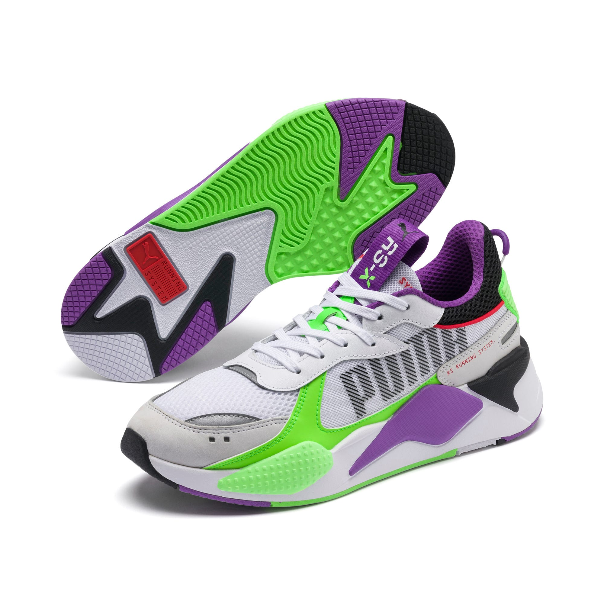 Thumbnail 2 of RS-X Bold Trainers, PWhite-Gr Gecko-Royal Lilac, medium