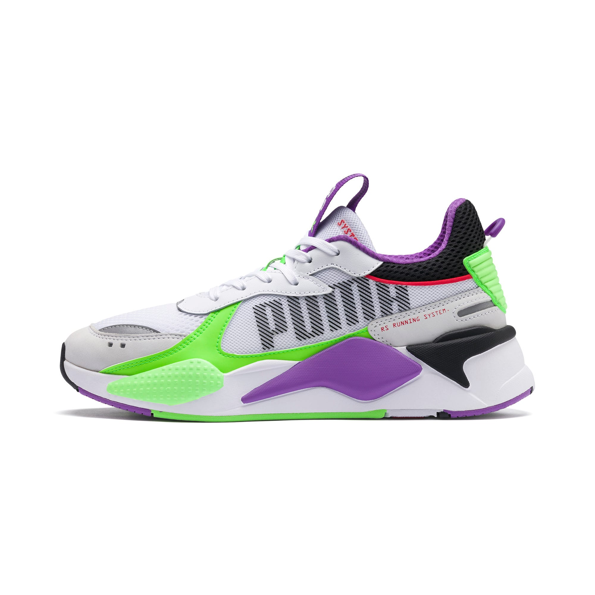 Thumbnail 1 of RS-X Bold Trainers, PWhite-Gr Gecko-Royal Lilac, medium