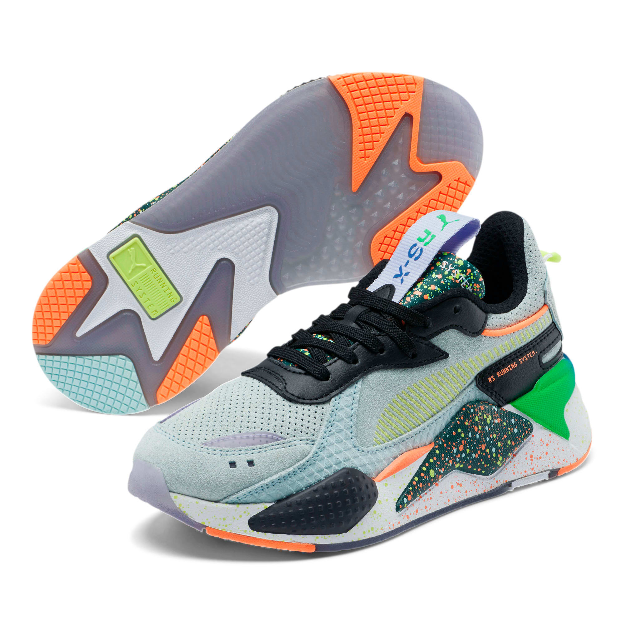 Thumbnail 2 of RS-X Fourth Dimension Sneakers JR, Fair Aqua-Ponderosa Pine, medium
