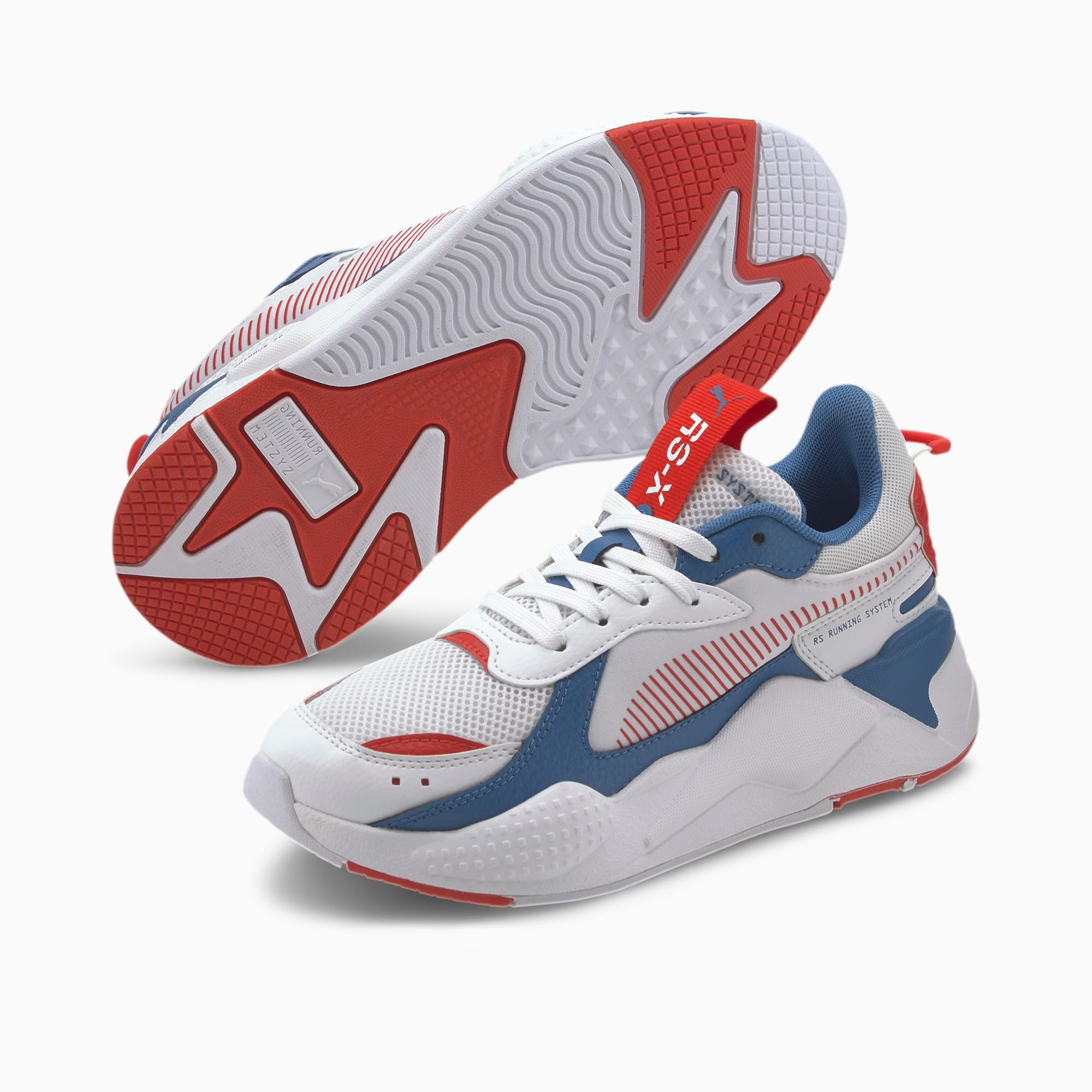RS X Joy Youth Sneaker | Puma White High Risk Red | PUMA RS