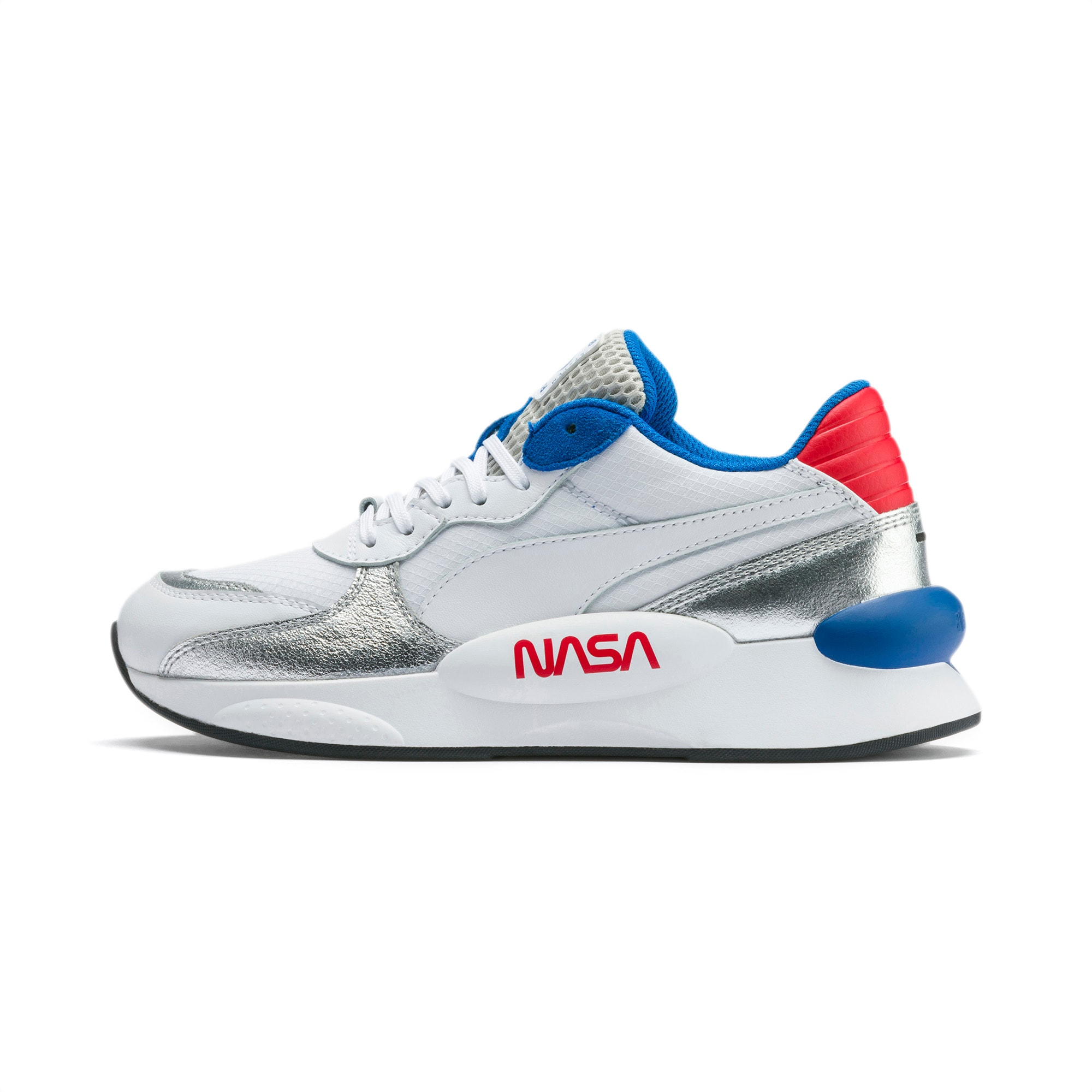 RS 9.8 Space Explorer Youth Trainers, Puma White-Puma Silver, large-SEA