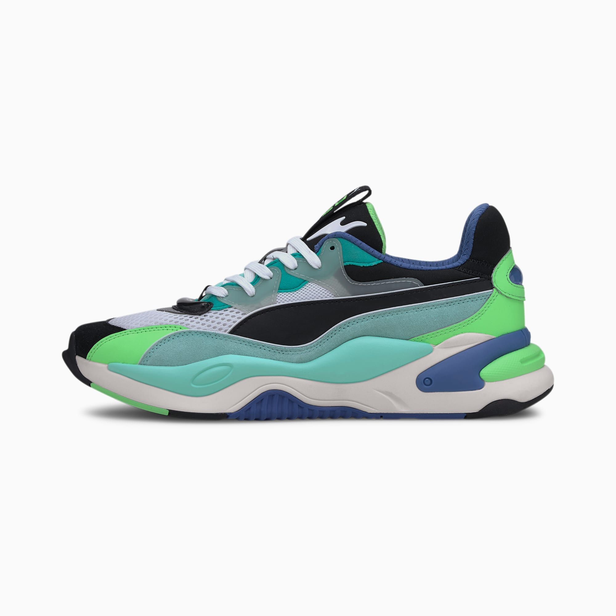 RS-2K Internet Exploring Trainers, Puma Black-ARUBA BLUE, extralarge