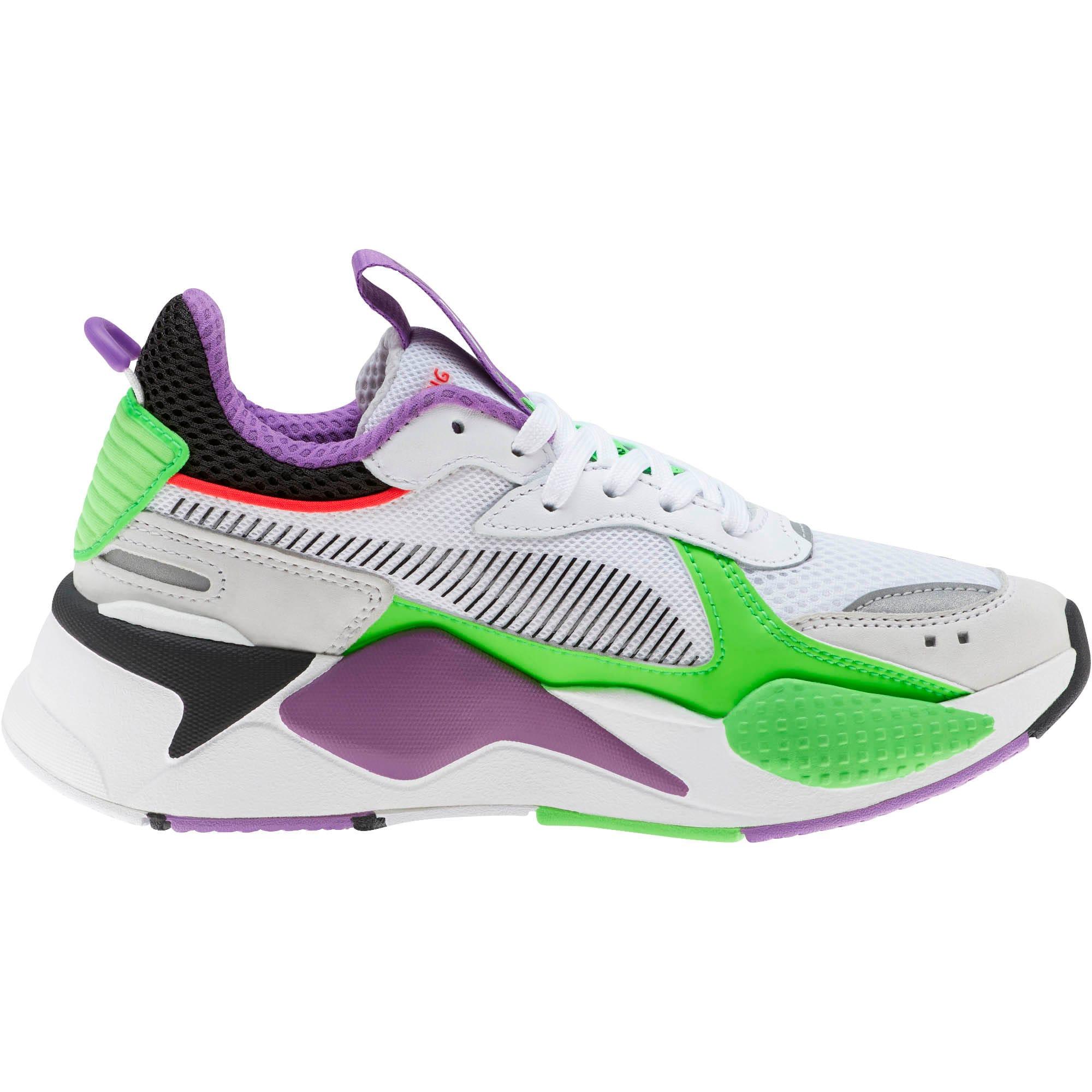 Thumbnail 4 of RS-X Bold Fluorescent Sneakers JR, PWhite-Gr Gecko-Royal Lilac, medium