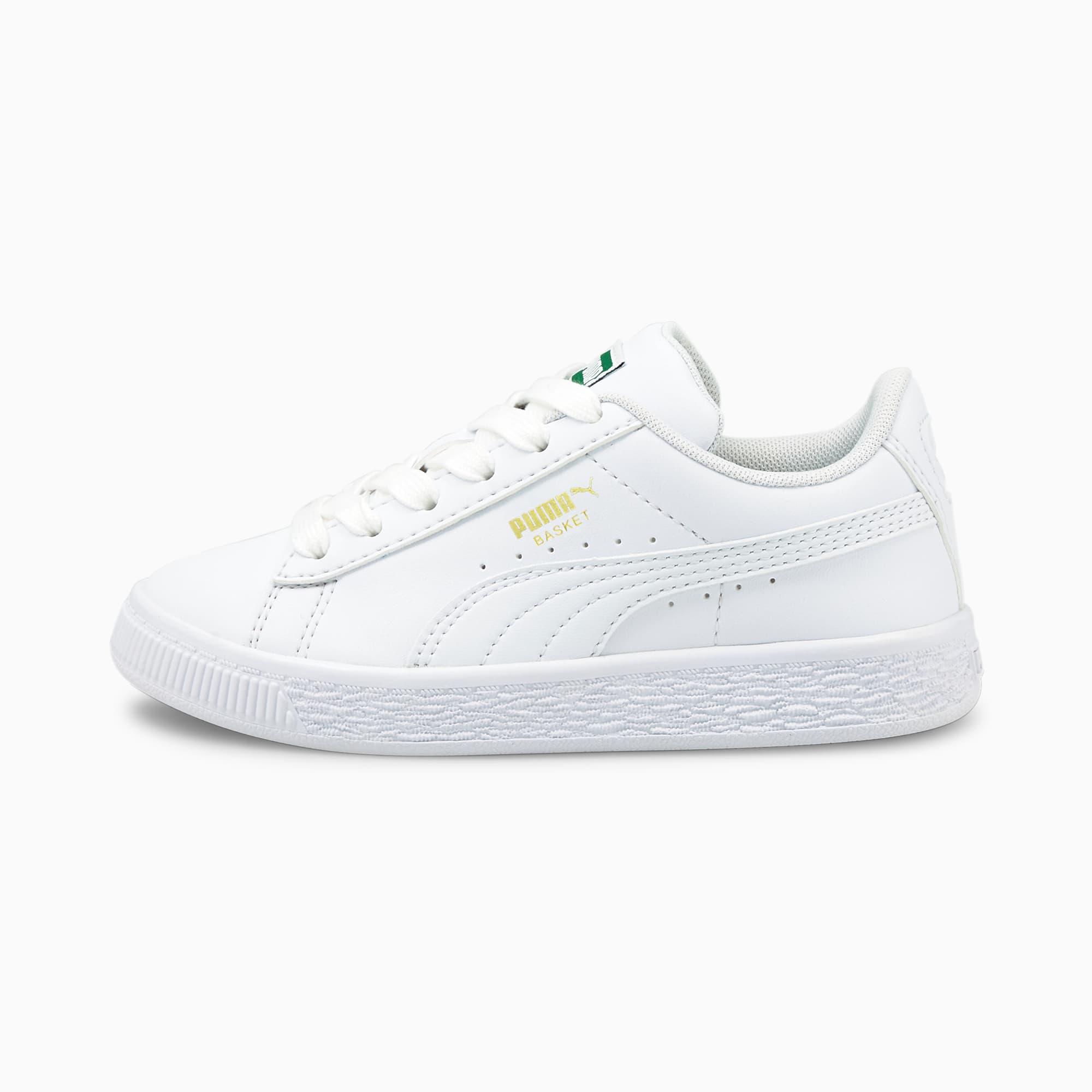 Basket Classic XXI Kids' Trainers   Puma White-Puma White   PUMA Shoes    PUMA United Kingdom