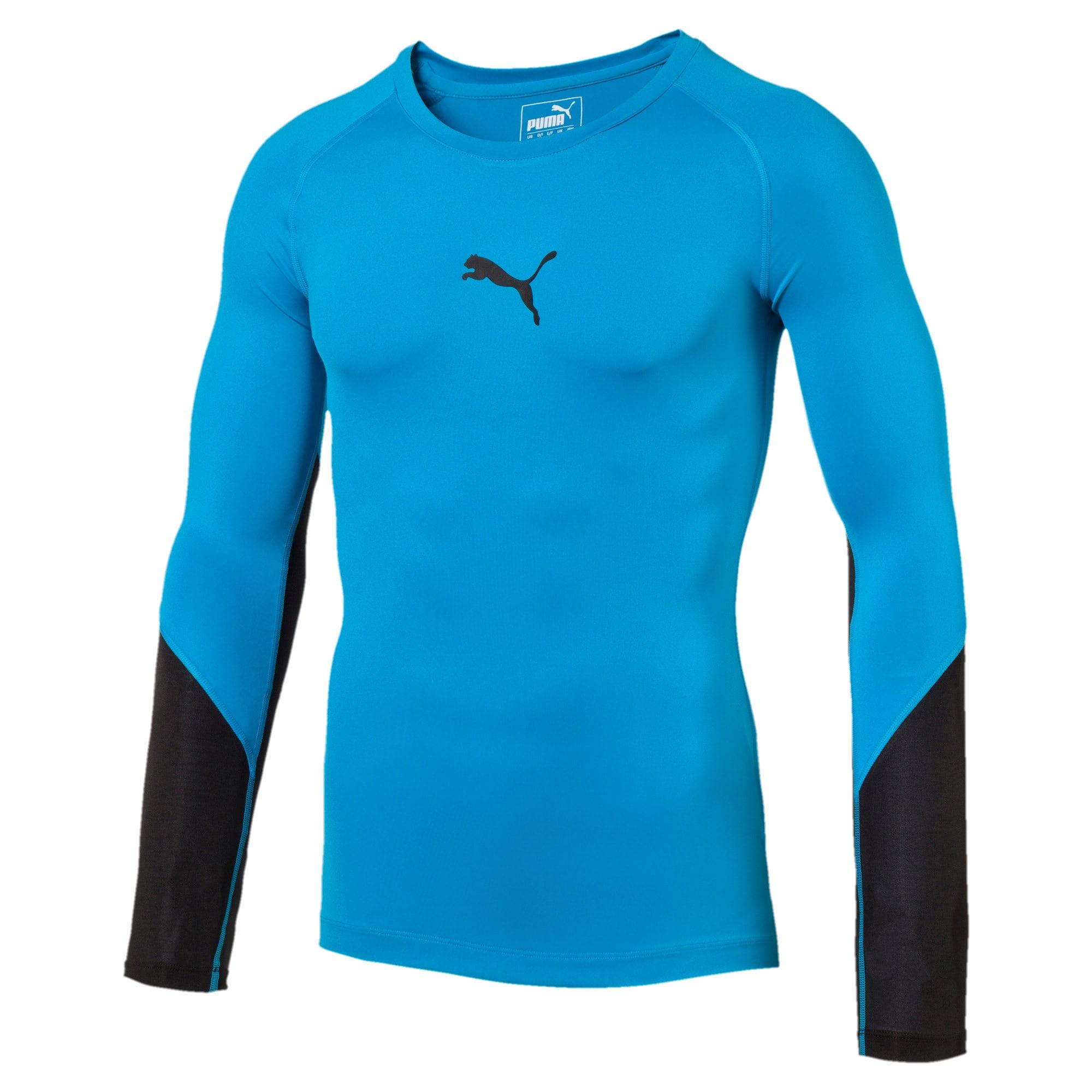 Thumbnail 3 of Training Lite Long Sleeve, BLUE DANUBE-Puma Black, medium-IND