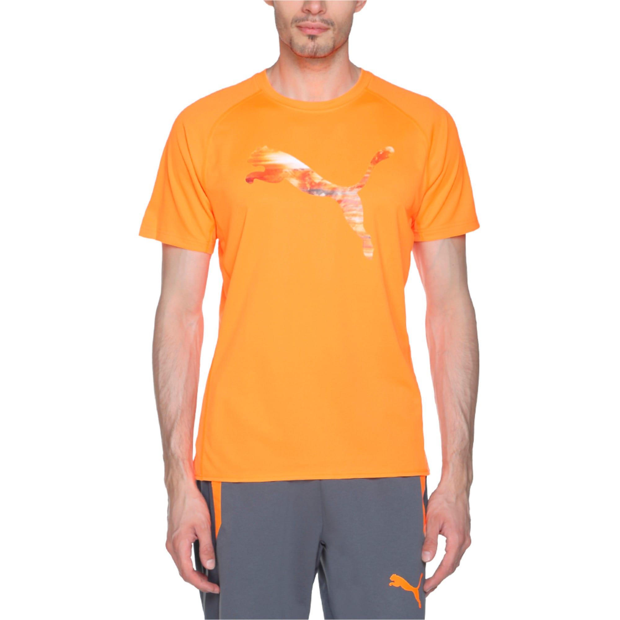 Thumbnail 2 of Running Logo T-Shirt, Shocking Orange, medium-IND