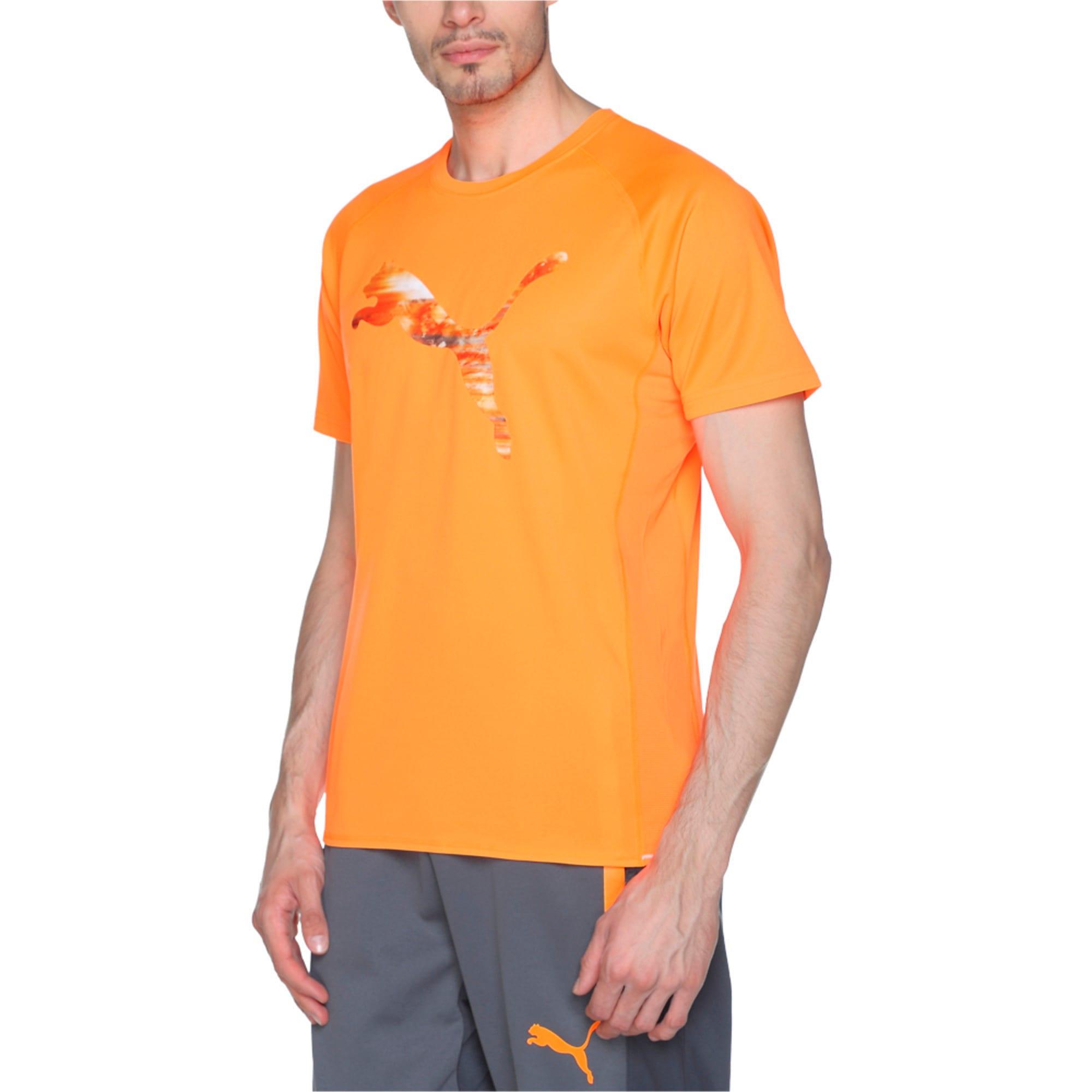 Thumbnail 3 of Running Logo T-Shirt, Shocking Orange, medium-IND