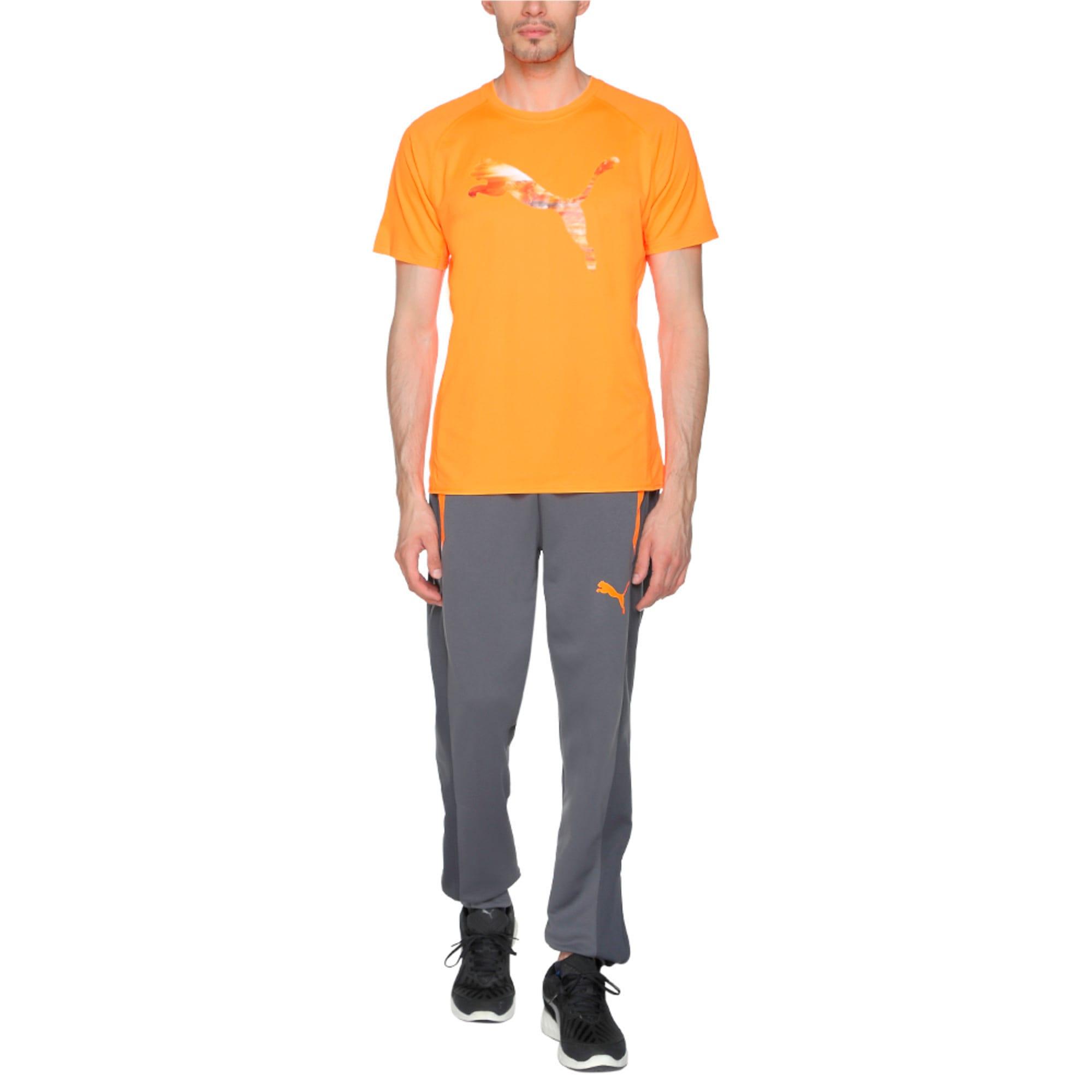 Thumbnail 4 of Running Logo T-Shirt, Shocking Orange, medium-IND