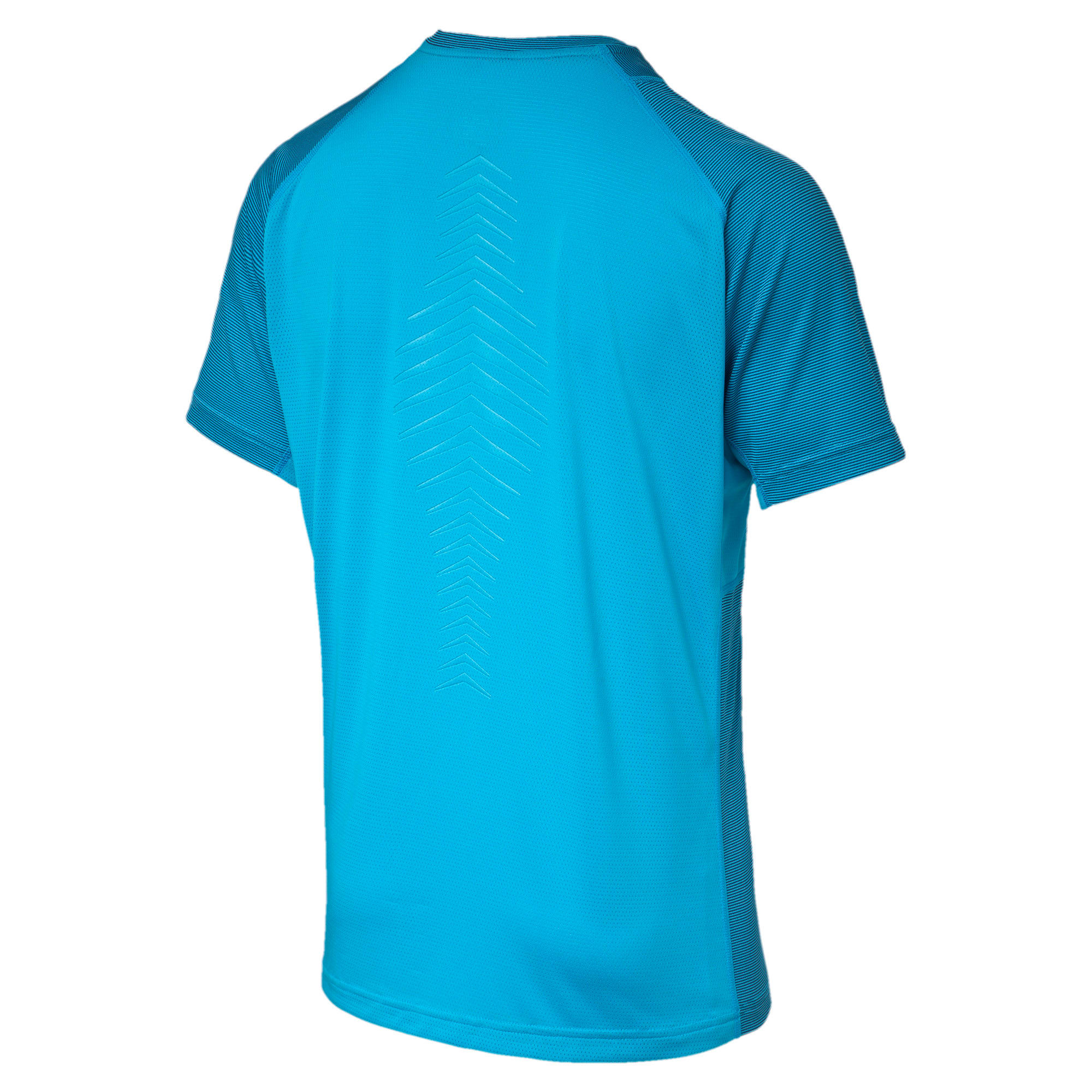 Thumbnail 5 of Active Training Vent Stripe T-Shirt, atomic blue-w/ Black, medium-IND