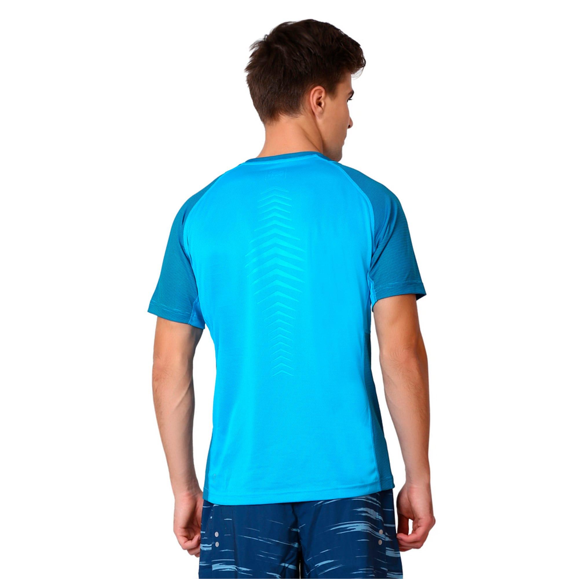 Thumbnail 2 of Active Training Vent Stripe T-Shirt, atomic blue-w/ Black, medium-IND