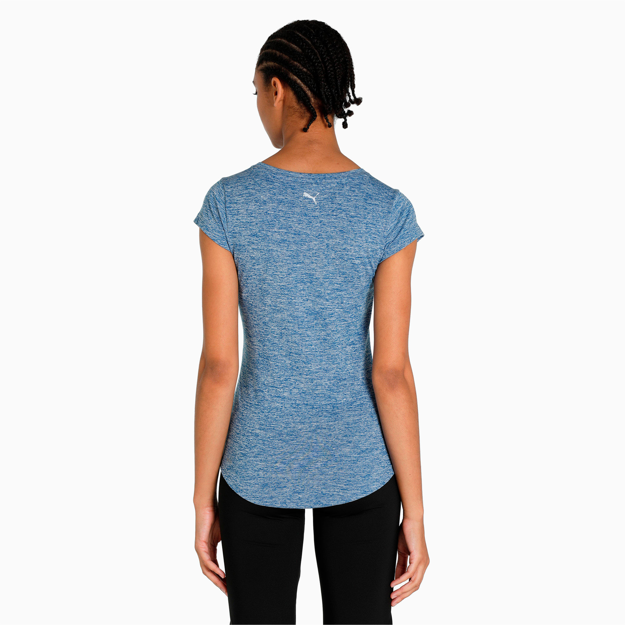Thumbnail 5 of Active Training Women's Heather Cat T-Shirt, TRUE BLUE Heather, medium-IND