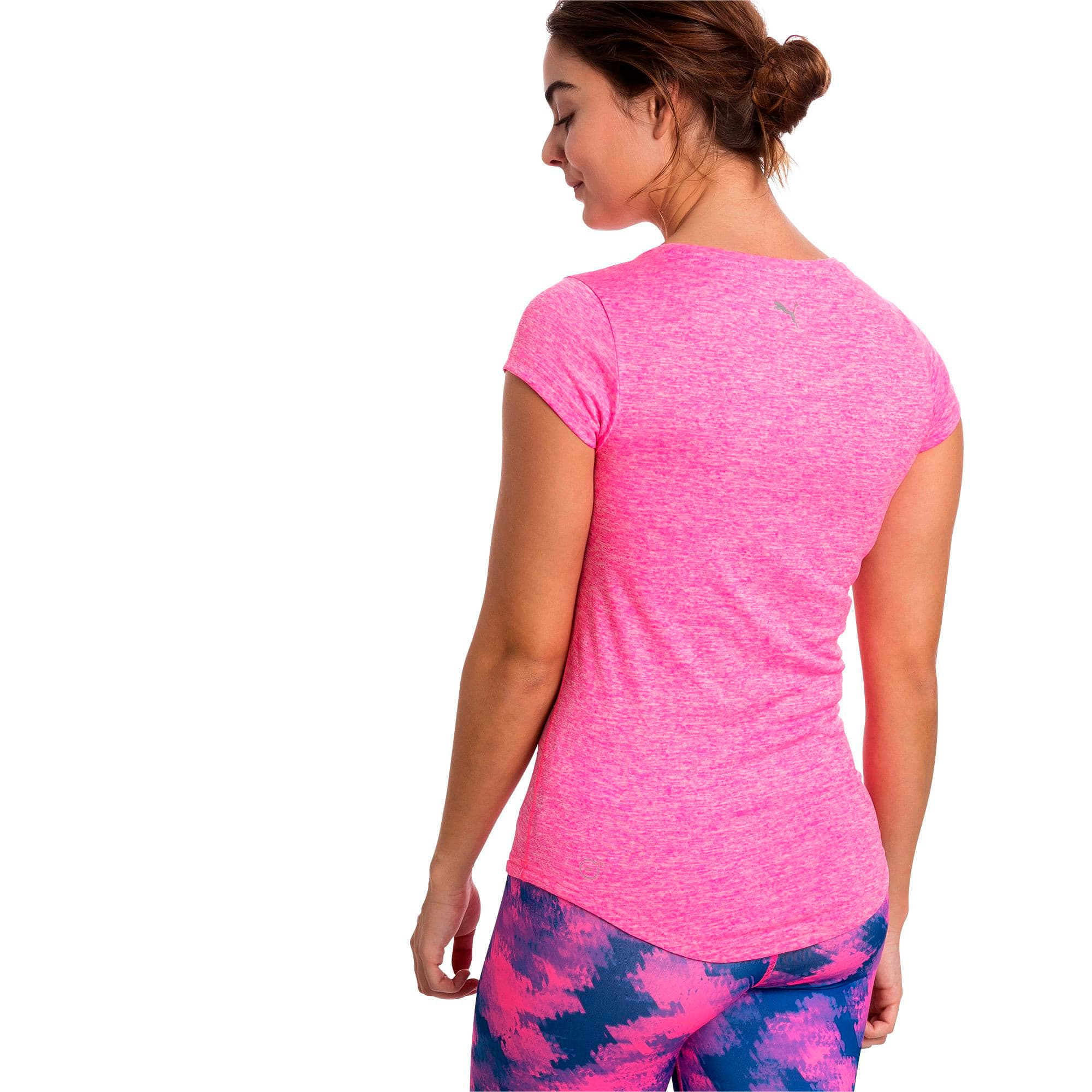 Thumbnail 2 of Active Training Women's Heather Cat T-Shirt, KNOCKOUT PINK Heather, medium-IND