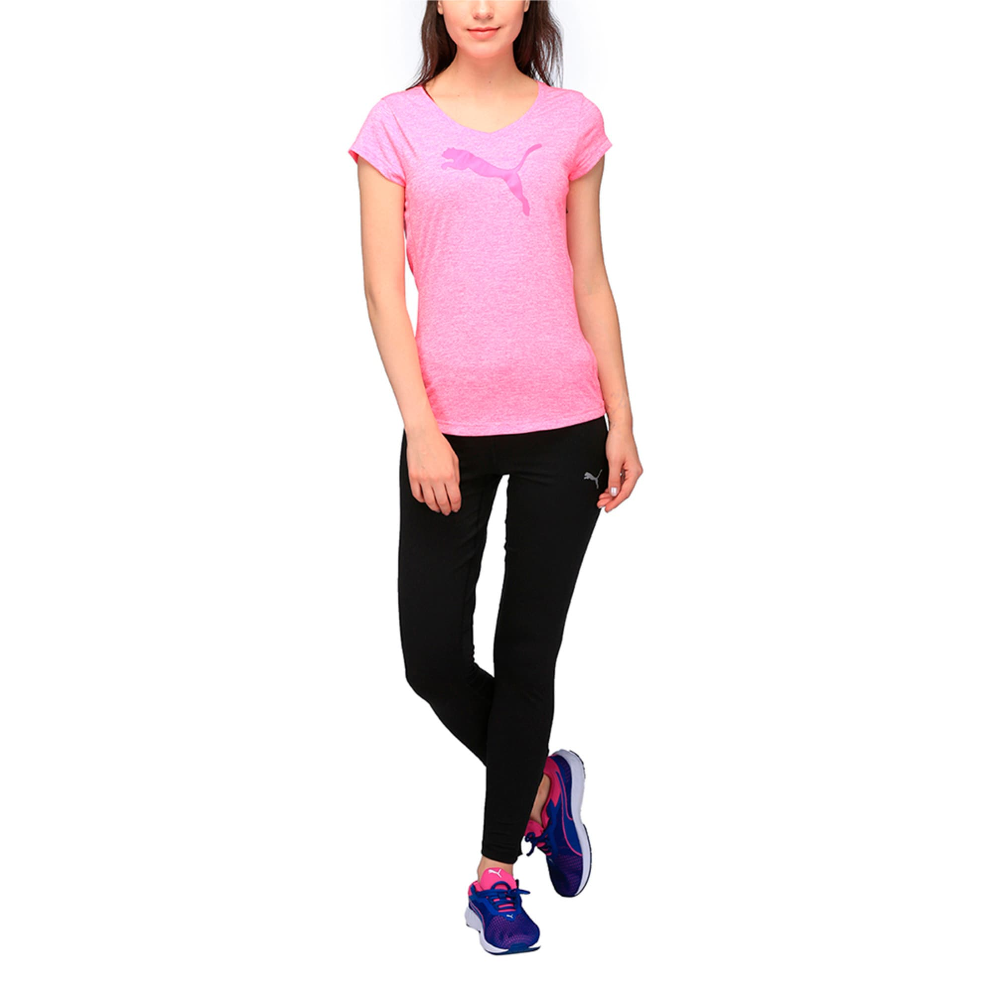 Thumbnail 3 of Active Training Women's Heather Cat T-Shirt, KNOCKOUT PINK Heather, medium-IND