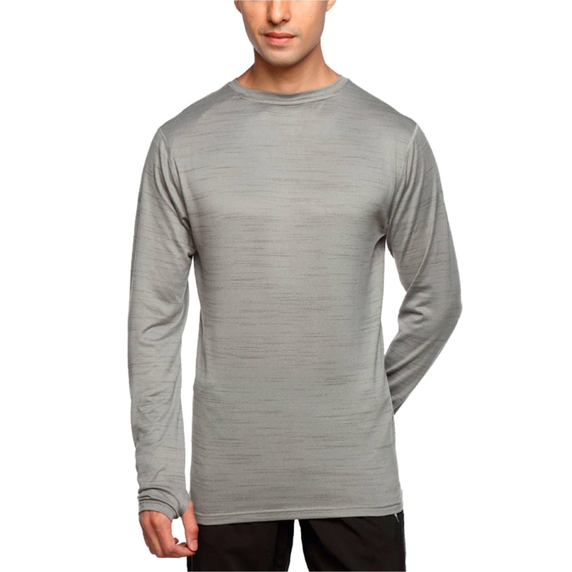 Thumbnail 1 of Rebel-Run L S Tee, Medium Gray Heather, medium-IND