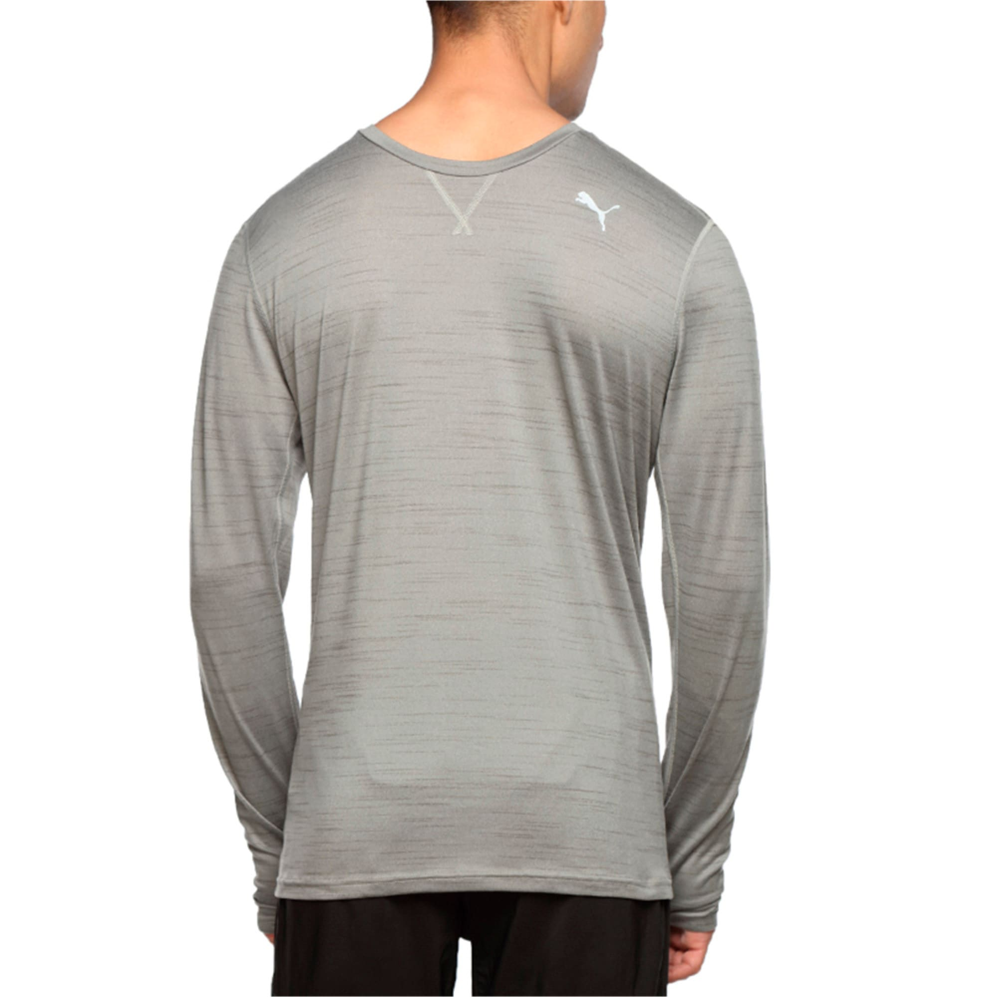Thumbnail 2 of Rebel-Run L S Tee, Medium Gray Heather, medium-IND