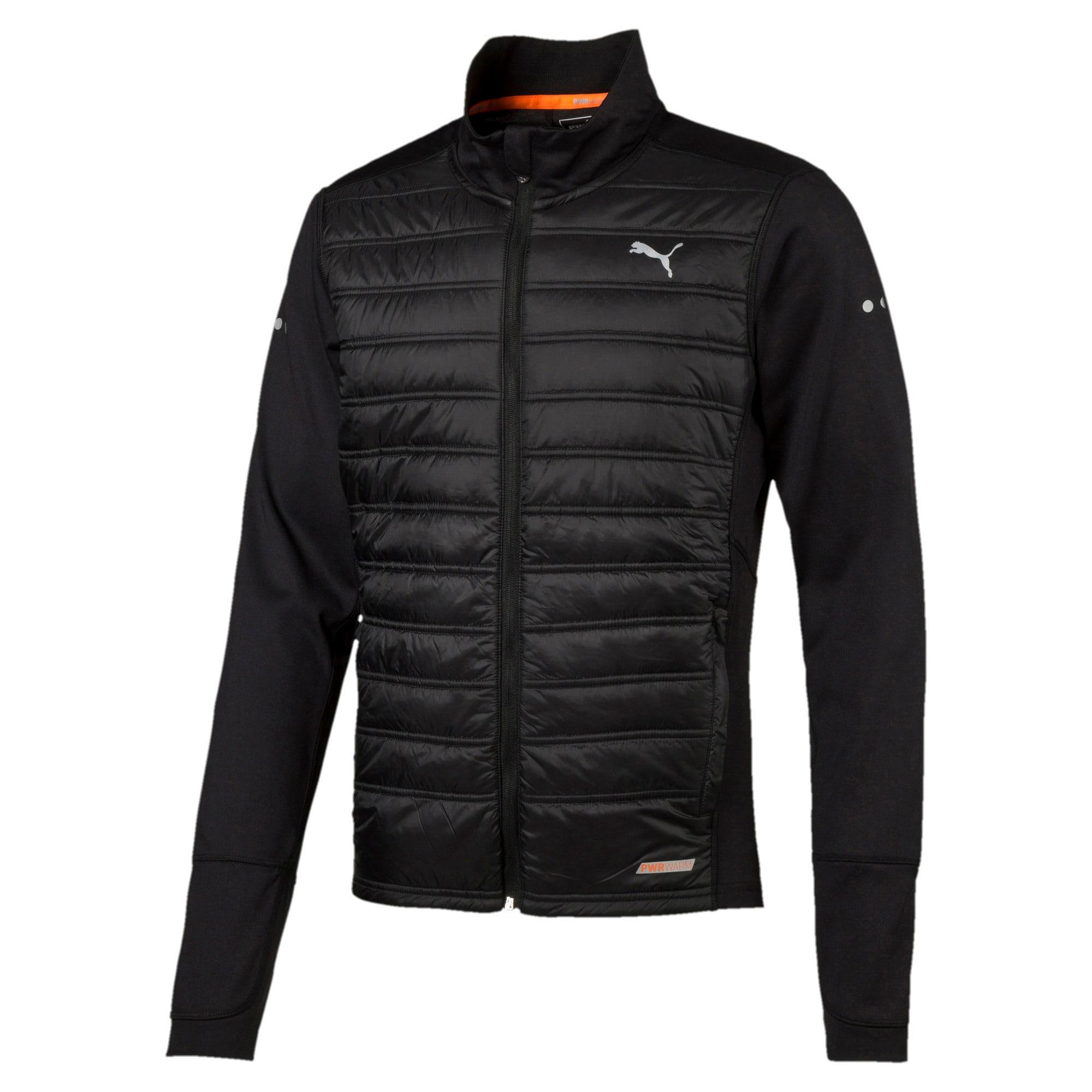 Thumbnail 1 of Running PWRWARM Men's Padded Jacket, Puma Black, medium-IND