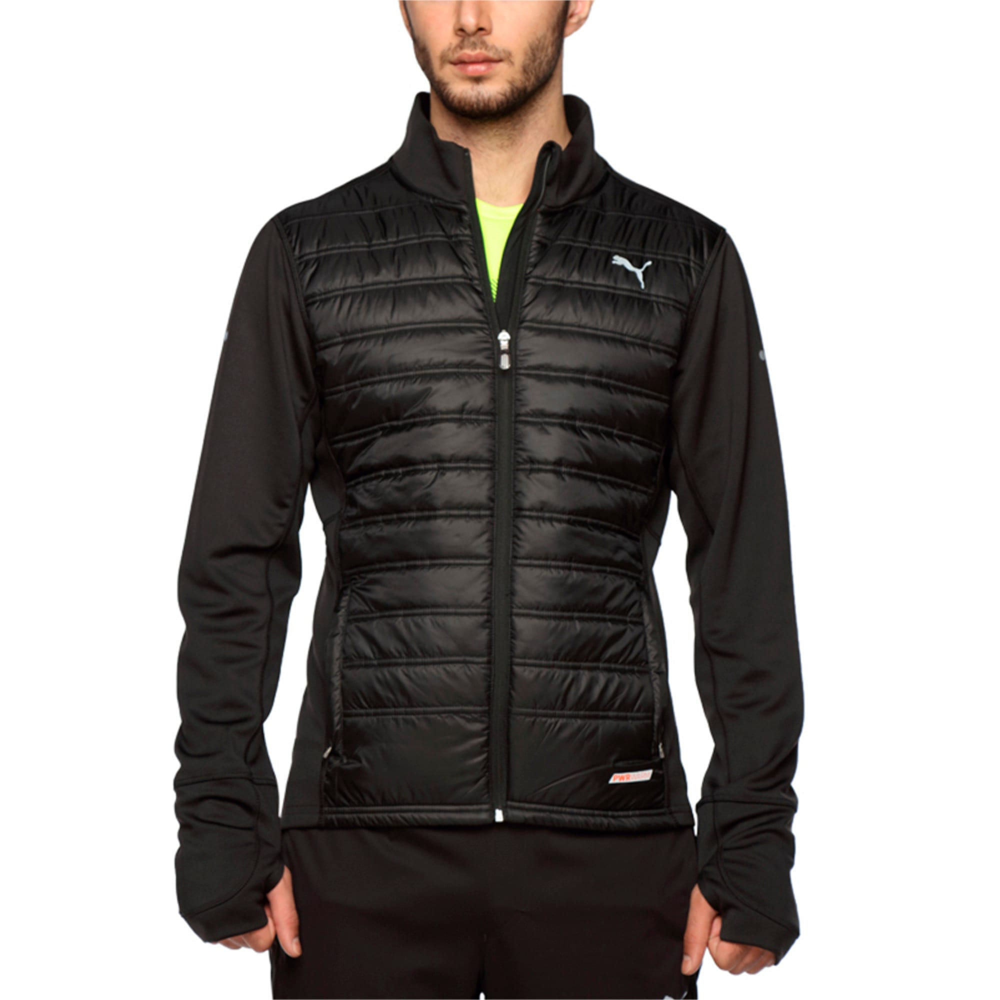Thumbnail 2 of Running PWRWARM Men's Padded Jacket, Puma Black, medium-IND