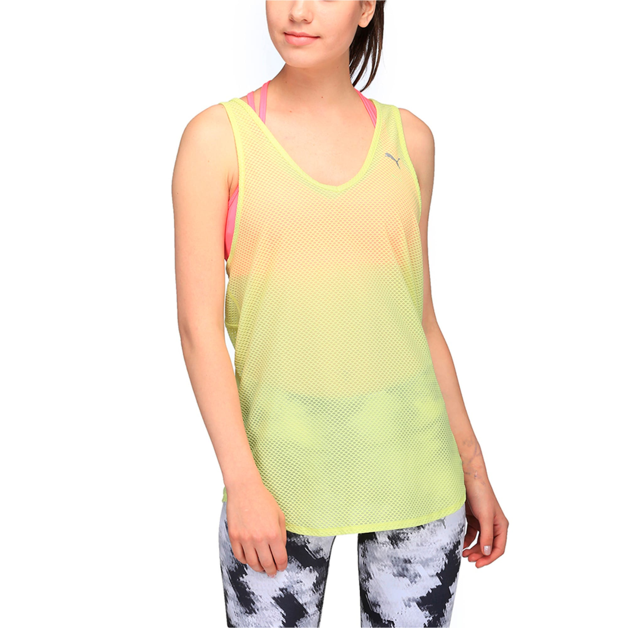 Thumbnail 1 of Active Training Women's Mesh It Up Tank Top, SOFT FLUO YELLOW, medium-IND