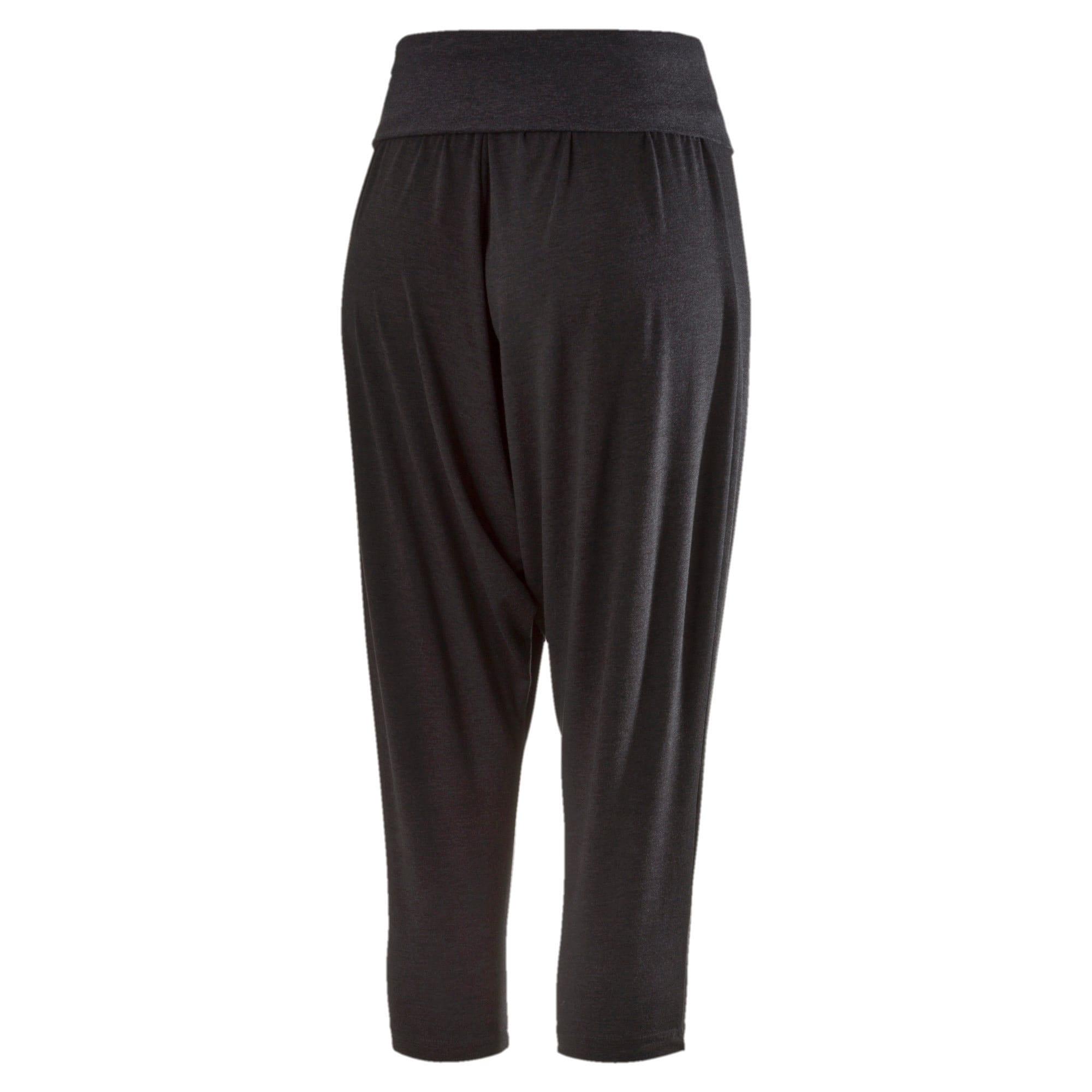 Thumbnail 4 of Active Training Women's Dancer Draped 3/4 Pants, dark gray heather, medium-IND