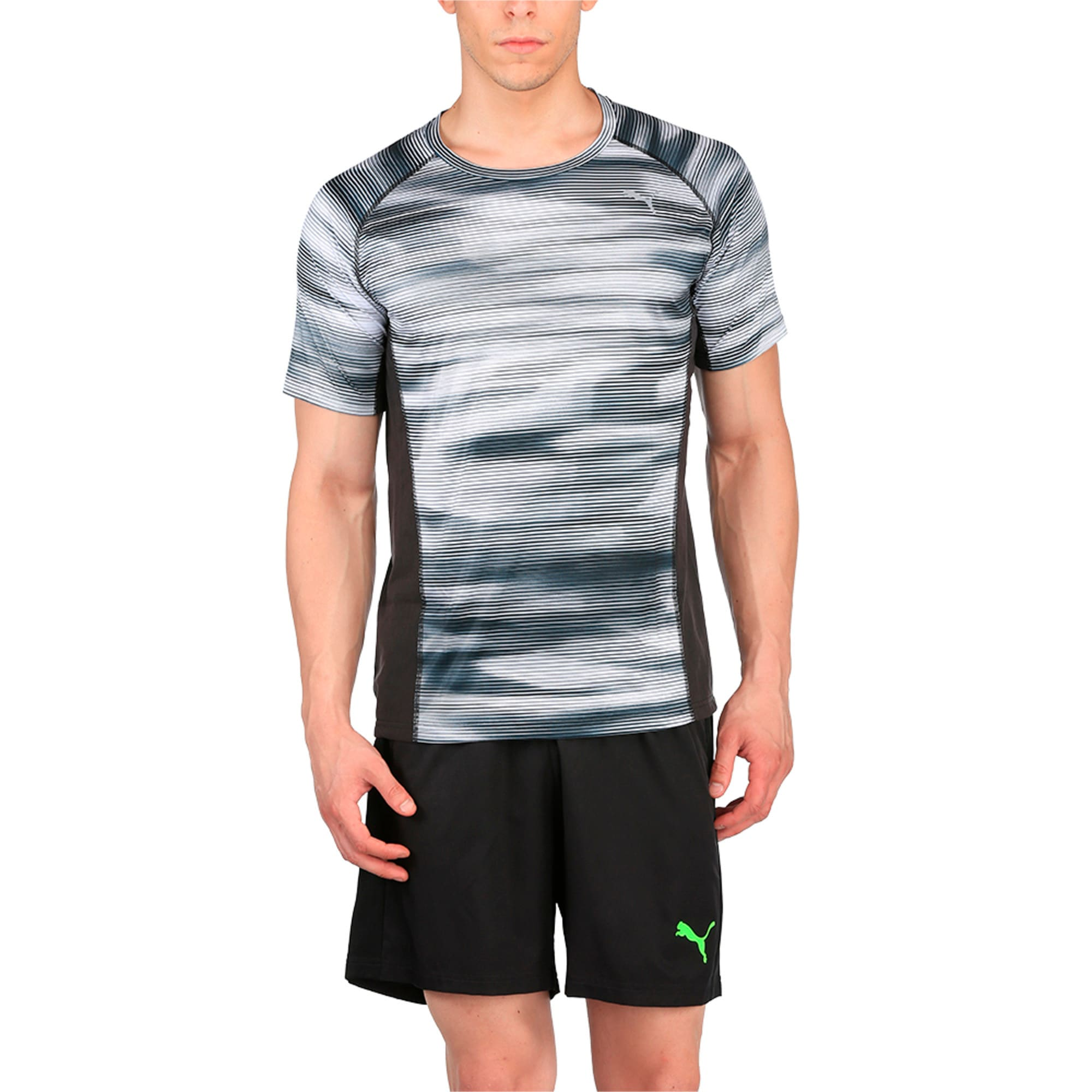 Thumbnail 2 of Running Men's Graphic T-Shirt, Puma Black Heather, medium-IND