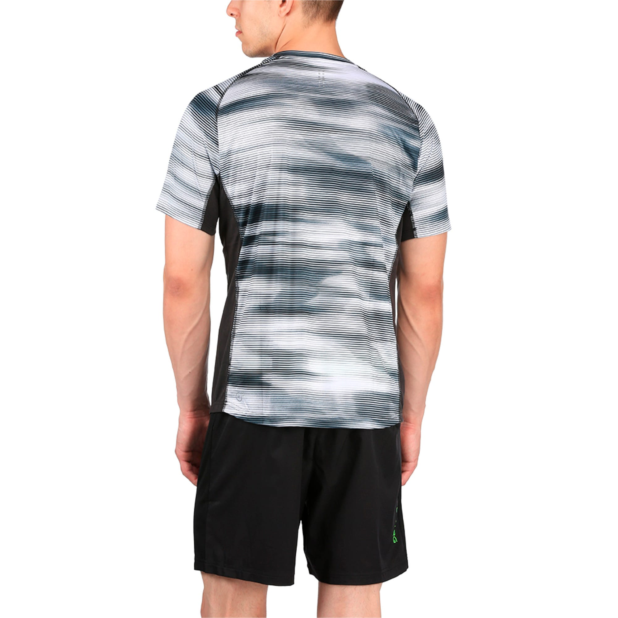 Thumbnail 3 of Running Men's Graphic T-Shirt, Puma Black Heather, medium-IND