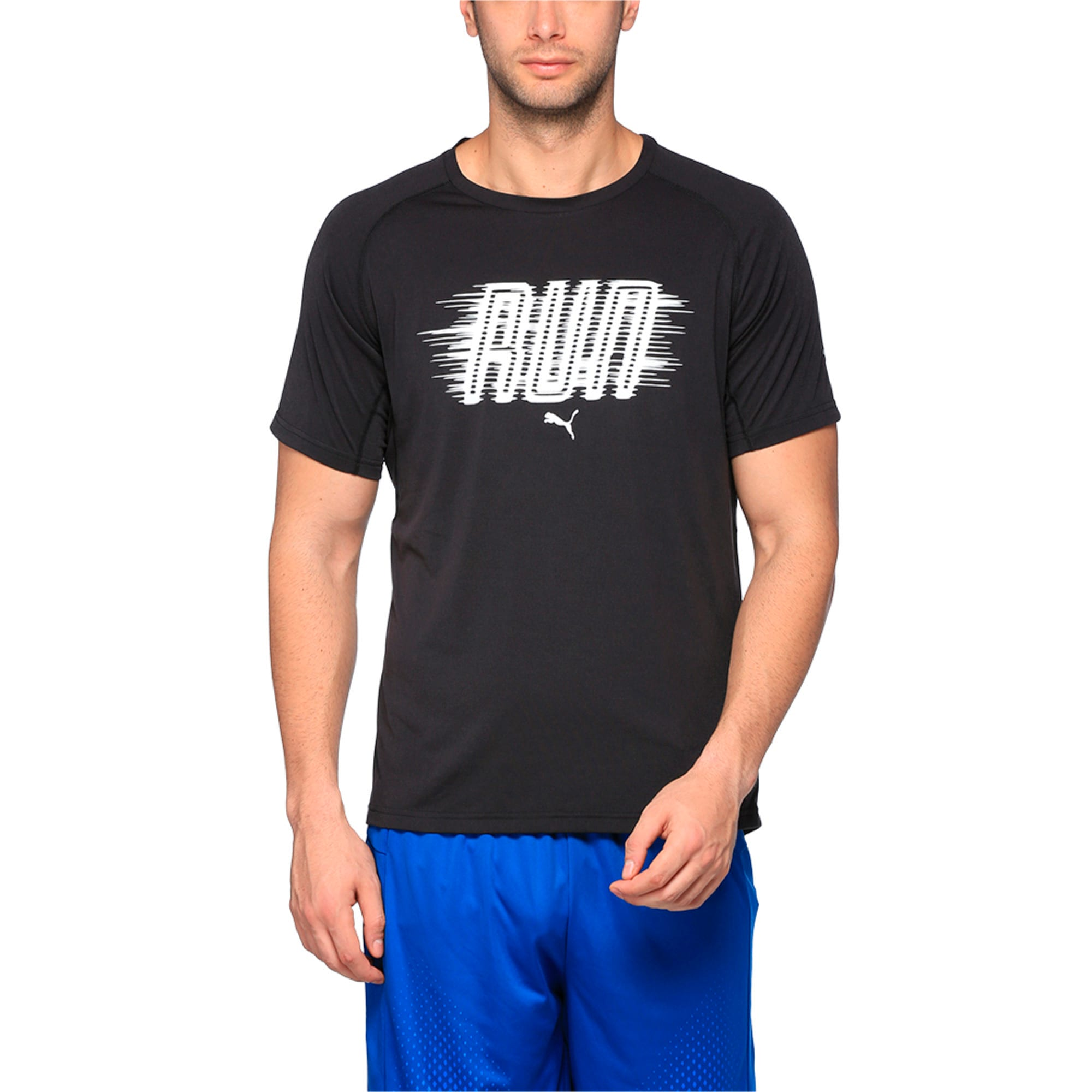 Thumbnail 1 of Running Men's Run T-Shirt, Puma Black Heather, medium-IND