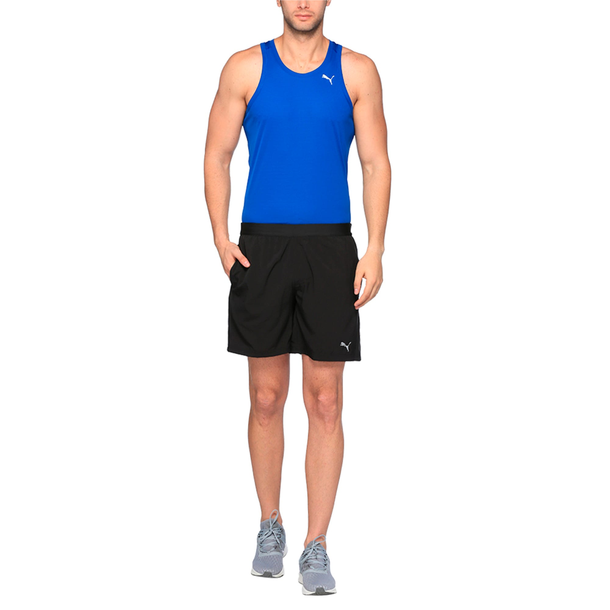 Thumbnail 3 of Running Men's Pace Shorts, Puma Black, medium-IND