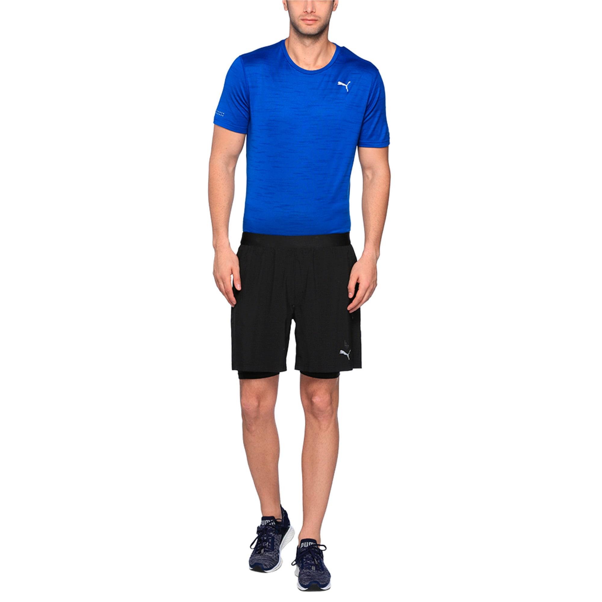 Thumbnail 2 of Running Men's Pace 2 in 1 Shorts, Puma Black, medium-IND