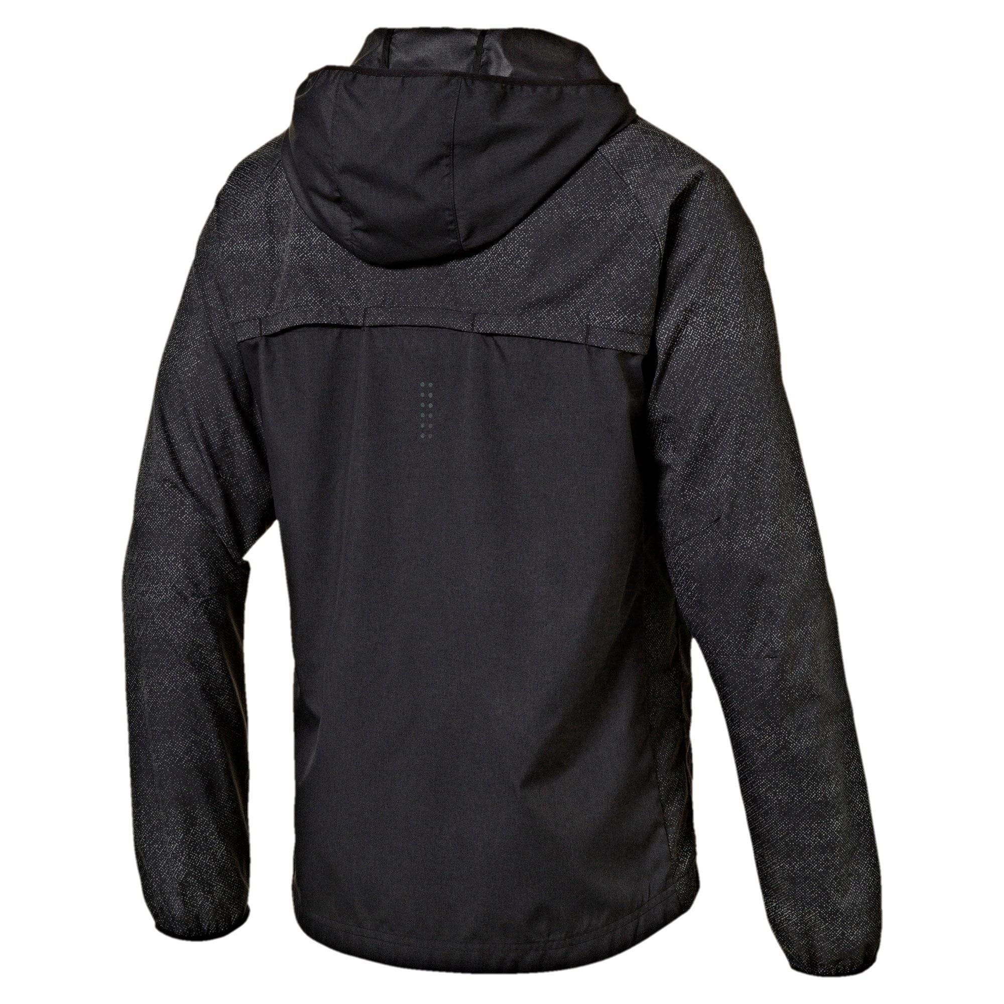 Thumbnail 4 of Running Men's NightCat Jacket, Puma Black Heather, medium-IND