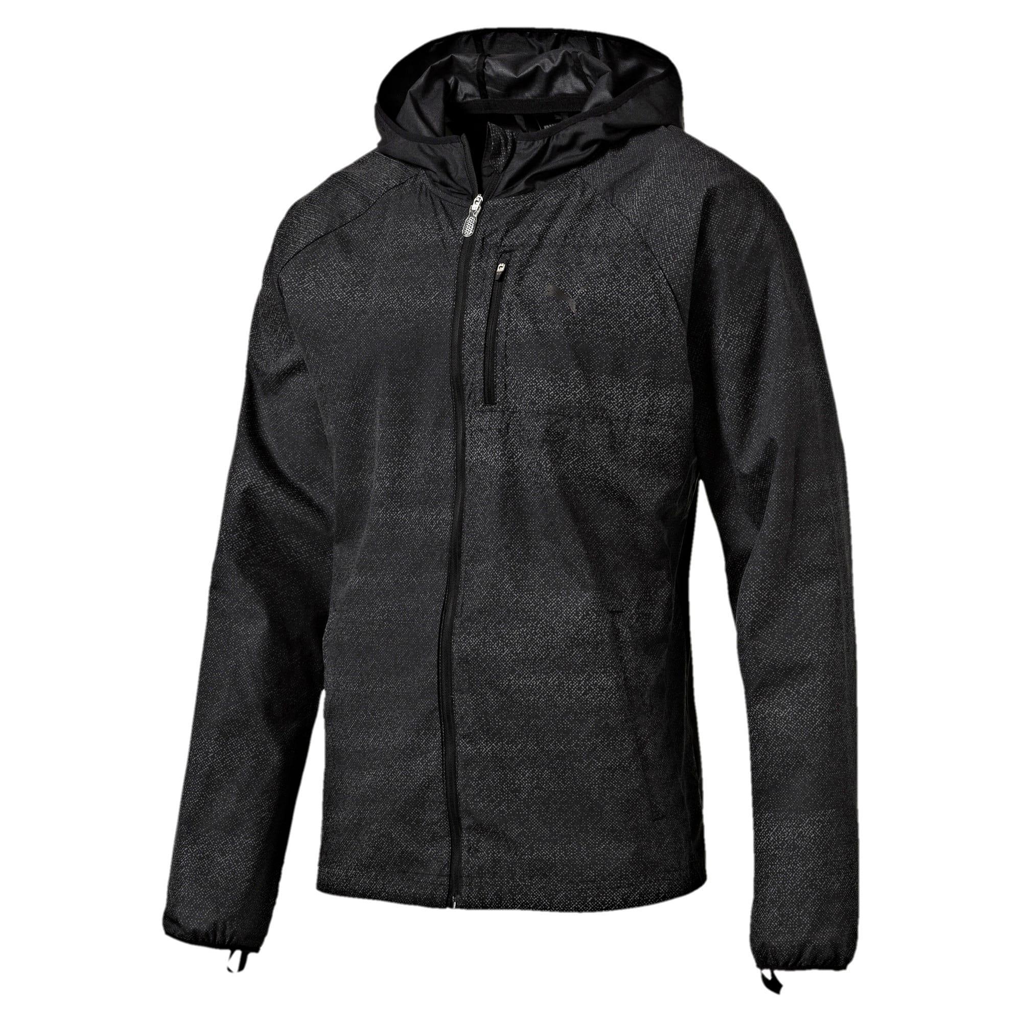 Thumbnail 3 of Running Men's NightCat Jacket, Puma Black Heather, medium-IND
