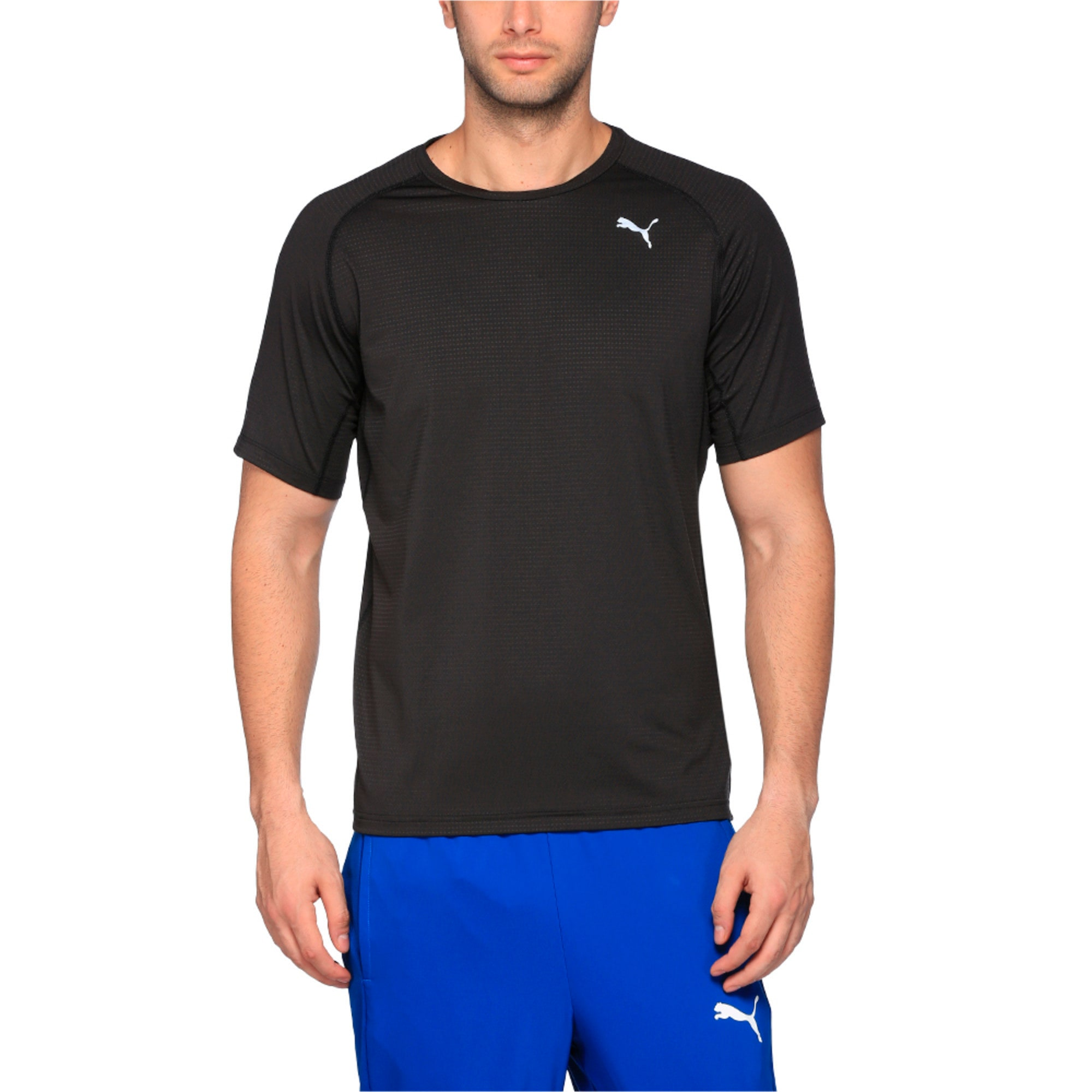 Thumbnail 1 of Running Men's Speed T-Shirt, Puma Black Heather, medium-IND