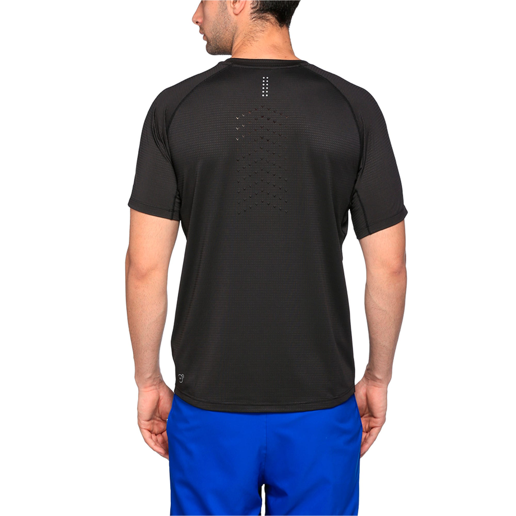 Thumbnail 2 of Running Men's Speed T-Shirt, Puma Black Heather, medium-IND