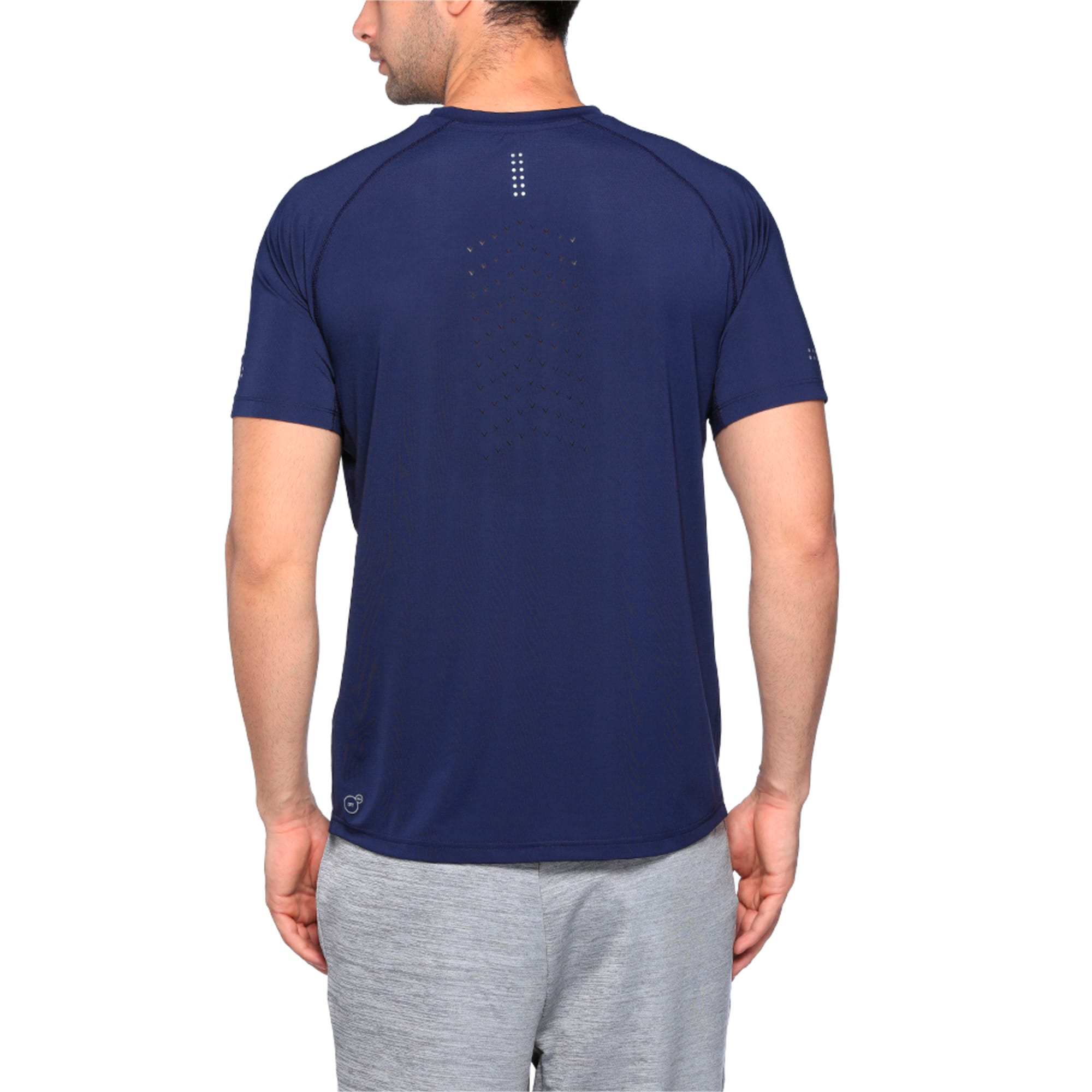 Running Men's PWRCOOL Speed T-Shirt, Peacoat, large-IND