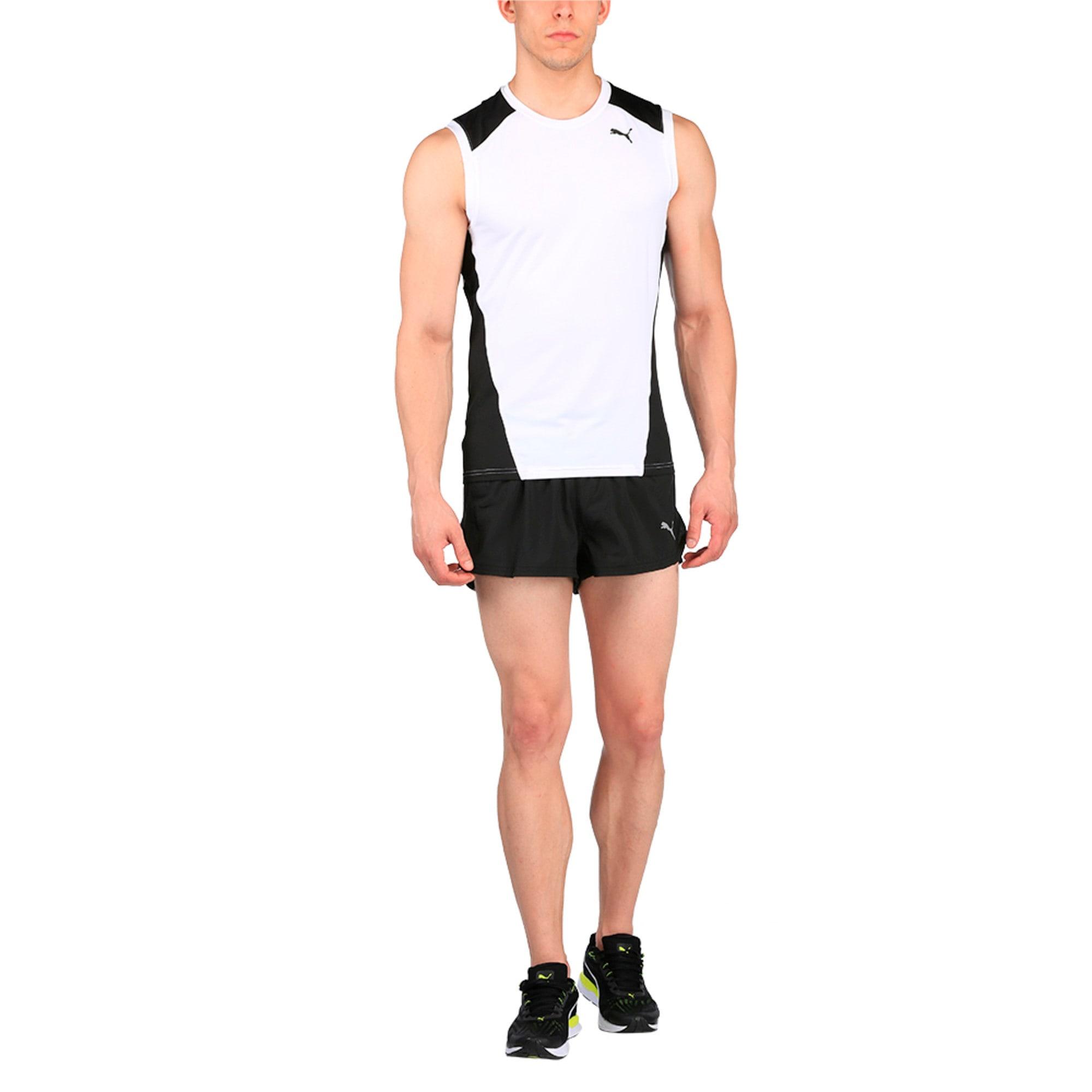 Thumbnail 3 of Running Men's Split Shorts, Puma Black, medium-IND