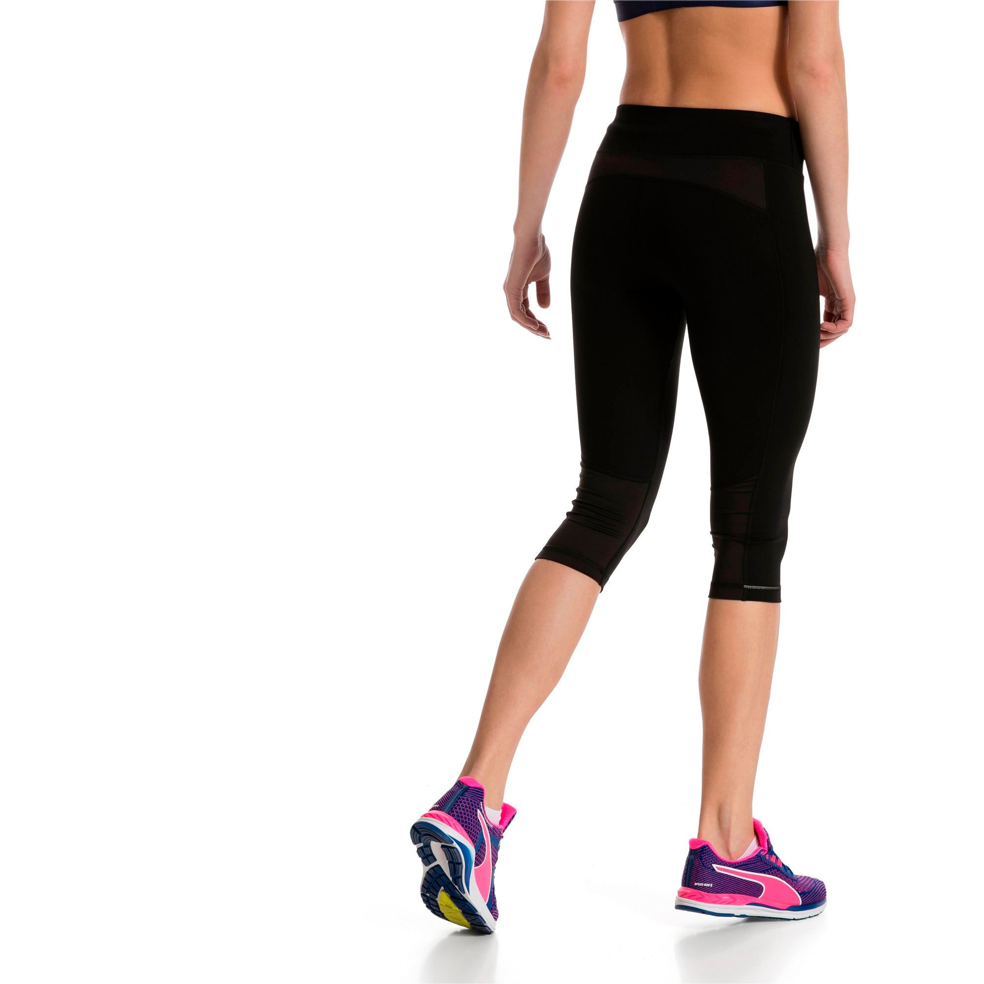 Thumbnail 2 of Running Women's 3/4 Tights, Puma Black, medium-IND