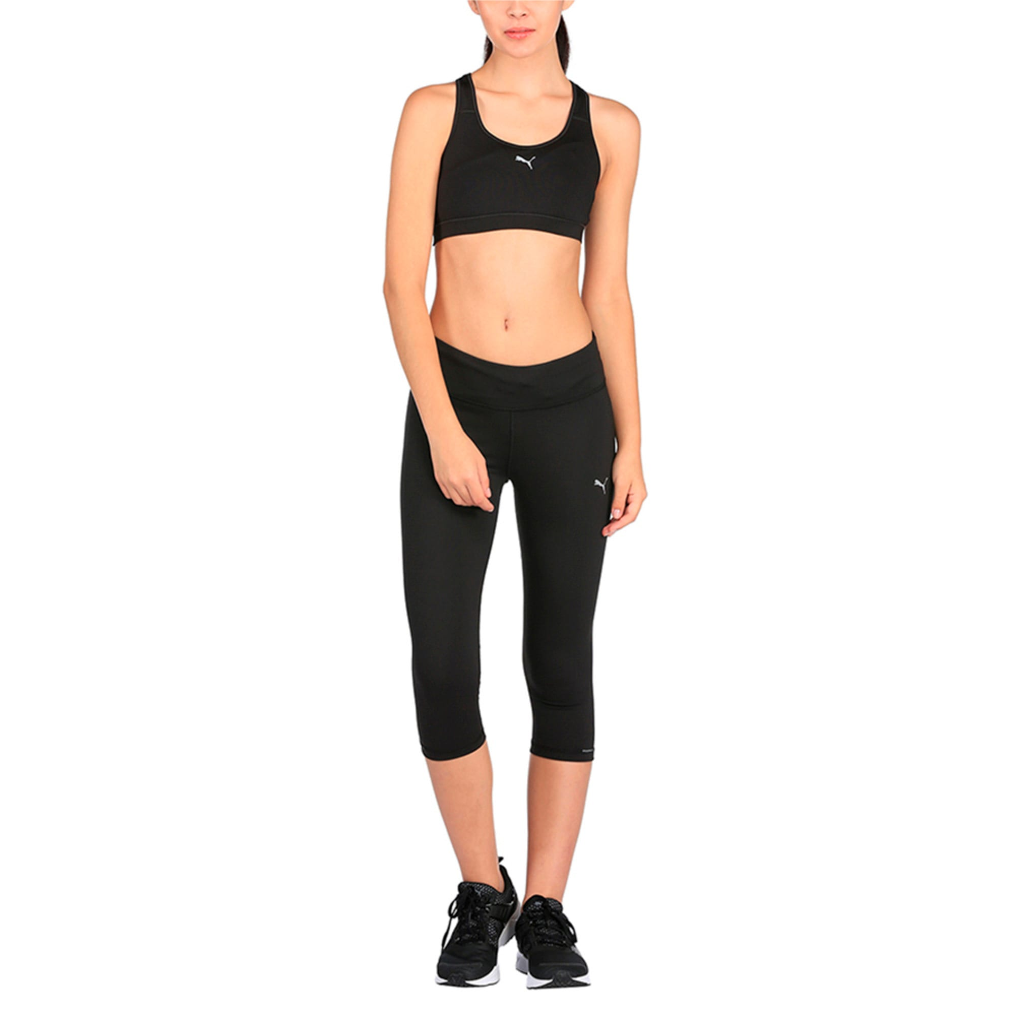 Thumbnail 3 of Running Women's 3/4 Tights, Puma Black, medium-IND
