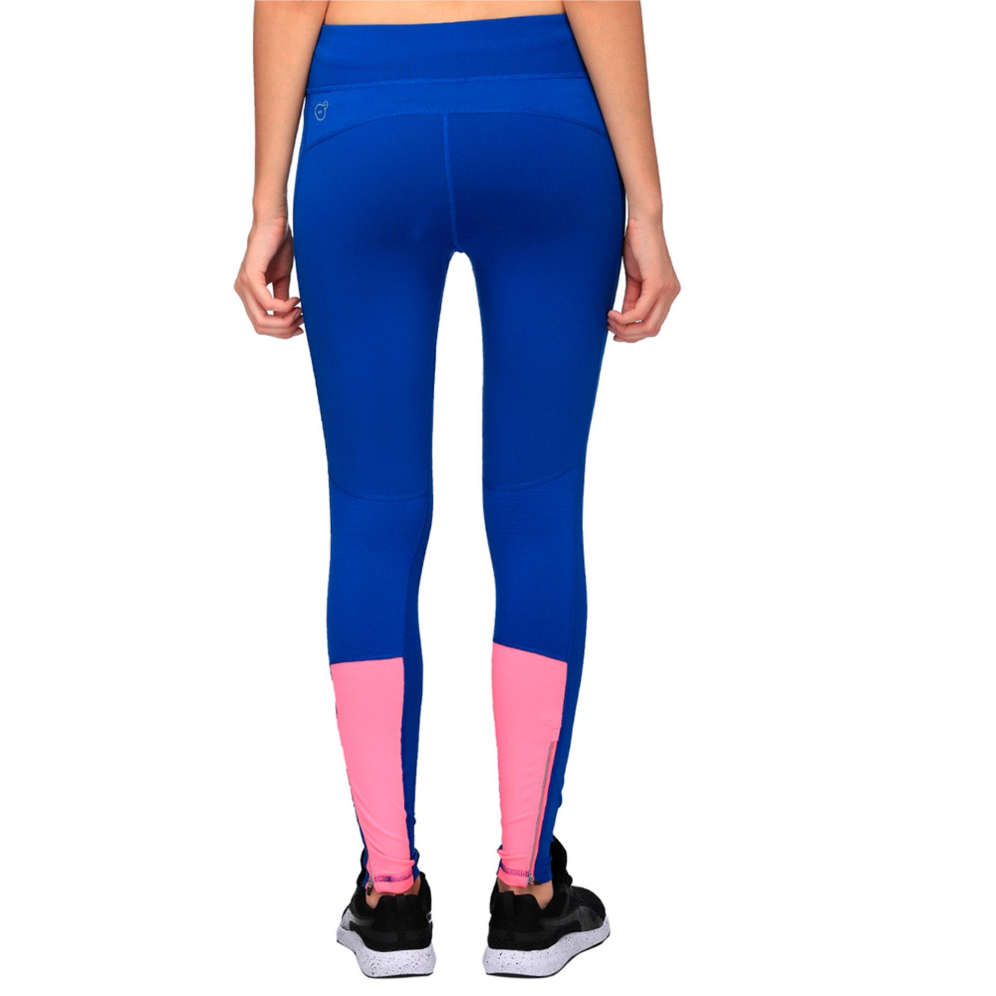 Thumbnail 4 of Running Women's Tights, TRUE BLUE-KNOCKOUT PINK, medium-IND
