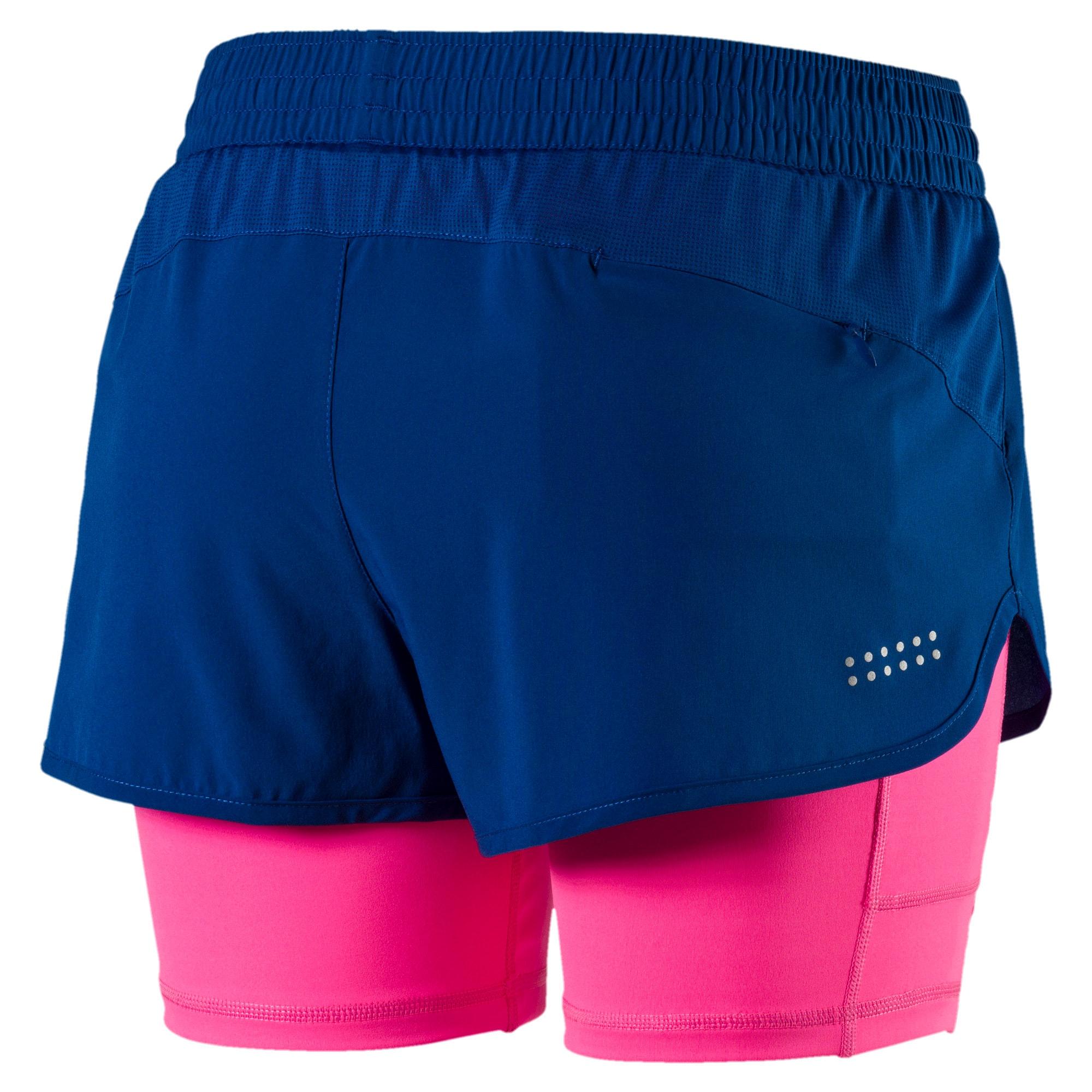 Thumbnail 5 of Running Women's Blast 2 in 1 Shorts, TRUE BLUE-KNOCKOUT PINK, medium-IND