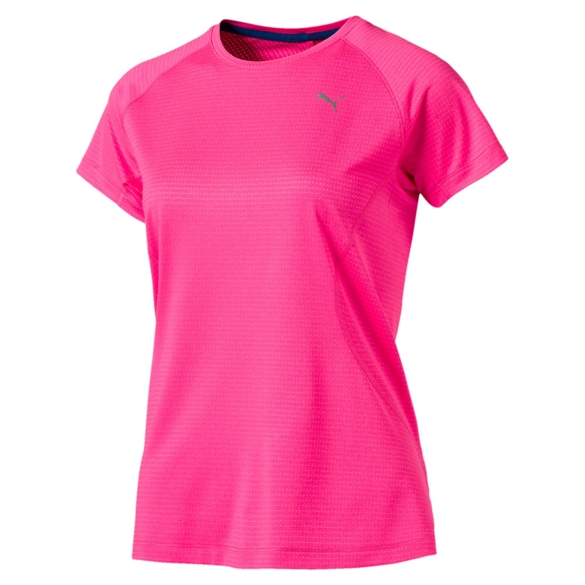 Thumbnail 3 of Women's Running Speed Short Sleeves Tee, KNOCKOUT PINK Heather, medium-IND