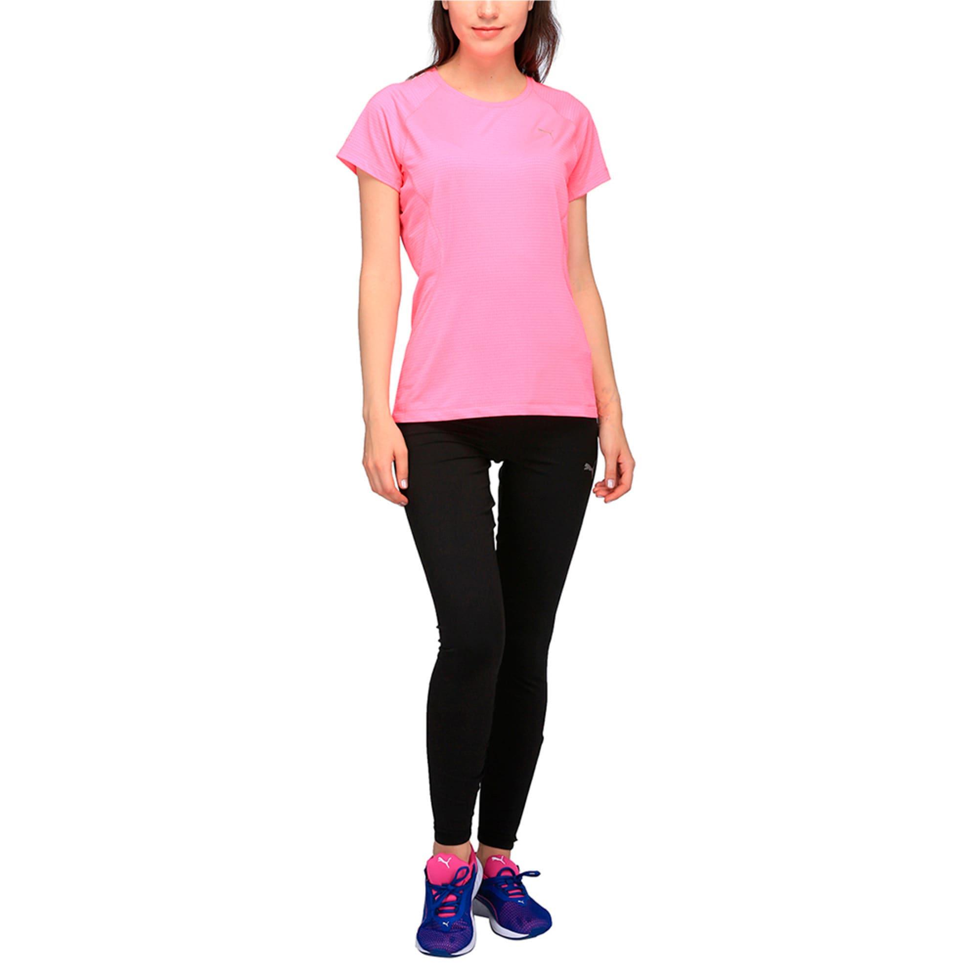 Thumbnail 2 of Women's Running Speed Short Sleeves Tee, KNOCKOUT PINK Heather, medium-IND