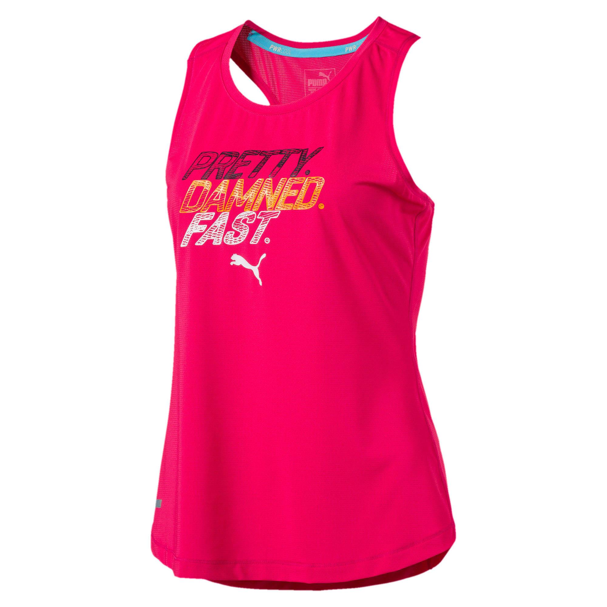 Thumbnail 4 of Running Women's PWRCOOL Slogan Tank Top, SPARKLING COSMO, medium-IND