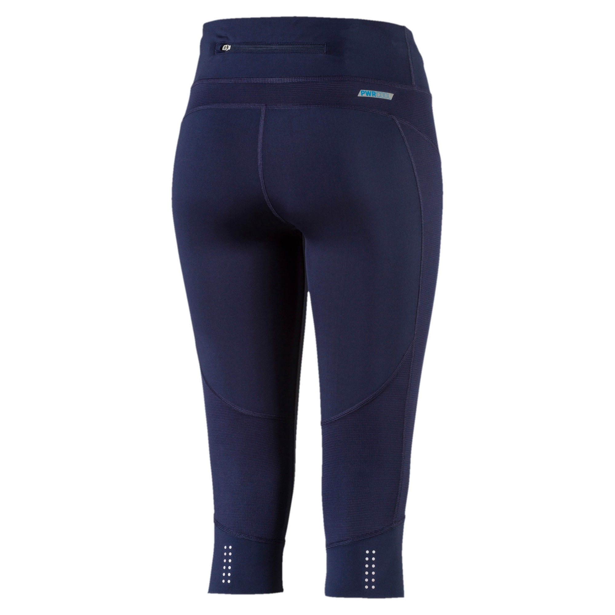 Thumbnail 5 of Running Women's PWRCOOL Speed 3/4 Tights, Peacoat, medium-IND