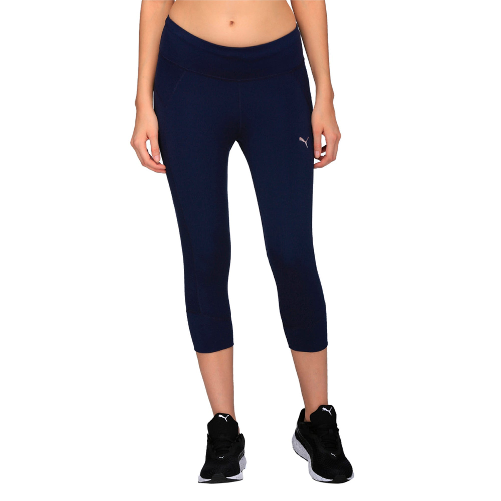 Thumbnail 2 of Running Women's PWRCOOL Speed 3/4 Tights, Peacoat, medium-IND
