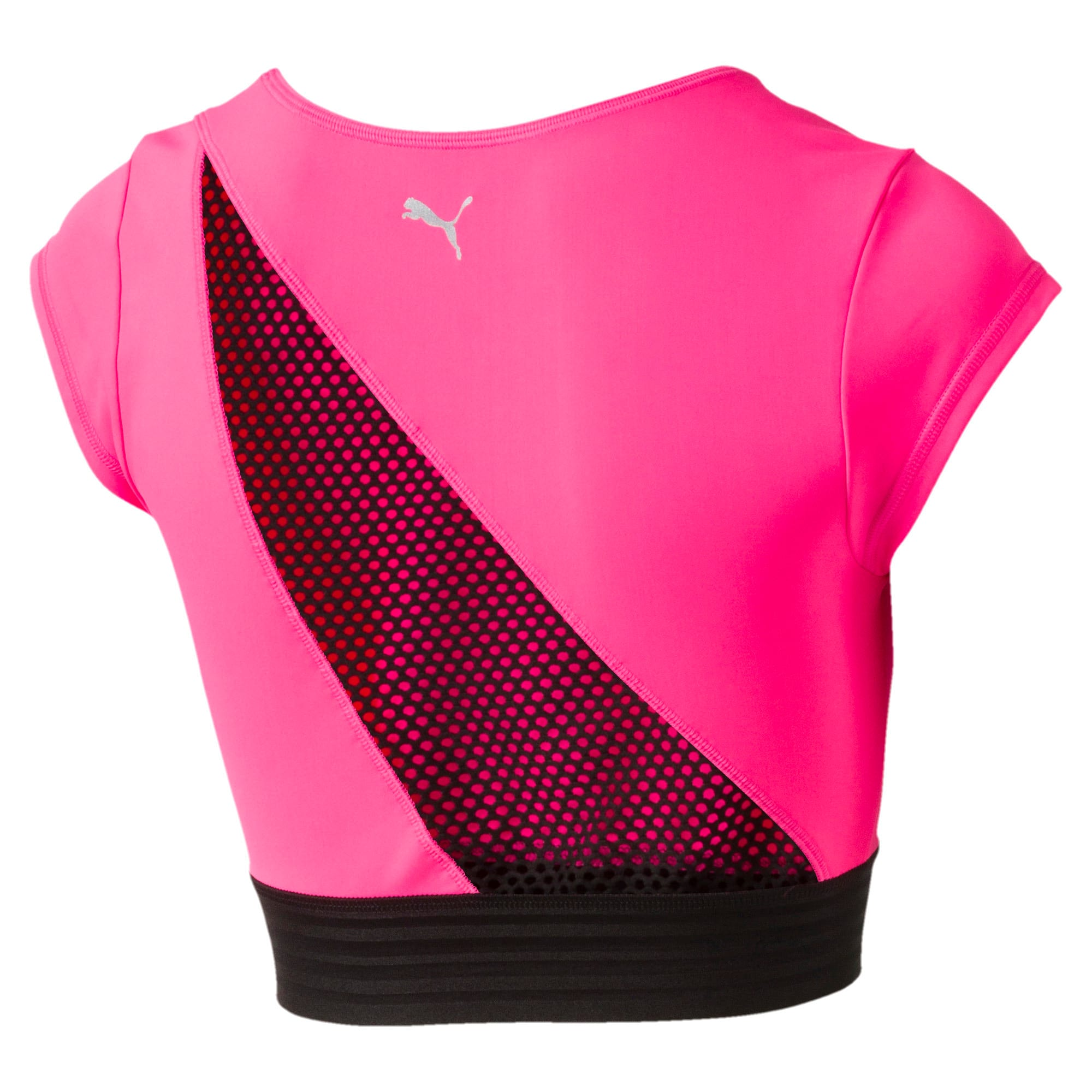 Thumbnail 4 of Active Training Women's Explosive Crop Top, KNOCKOUT PINK, medium-IND