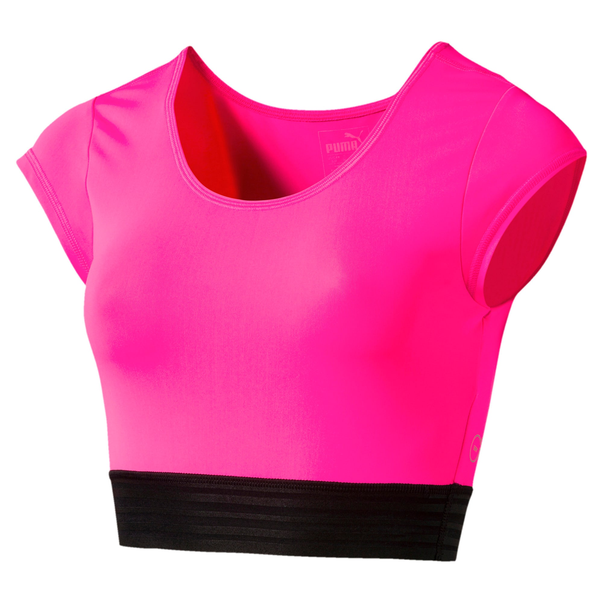 Thumbnail 3 of Active Training Women's Explosive Crop Top, KNOCKOUT PINK, medium-IND
