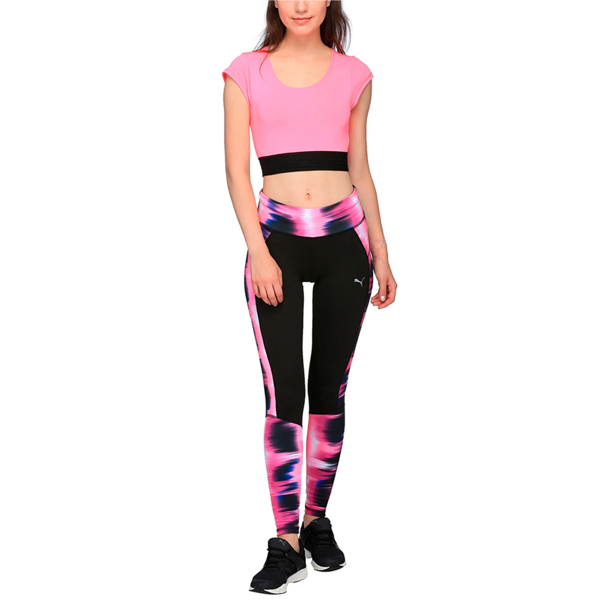 Thumbnail 2 of Active Training Women's Explosive Crop Top, KNOCKOUT PINK, medium-IND