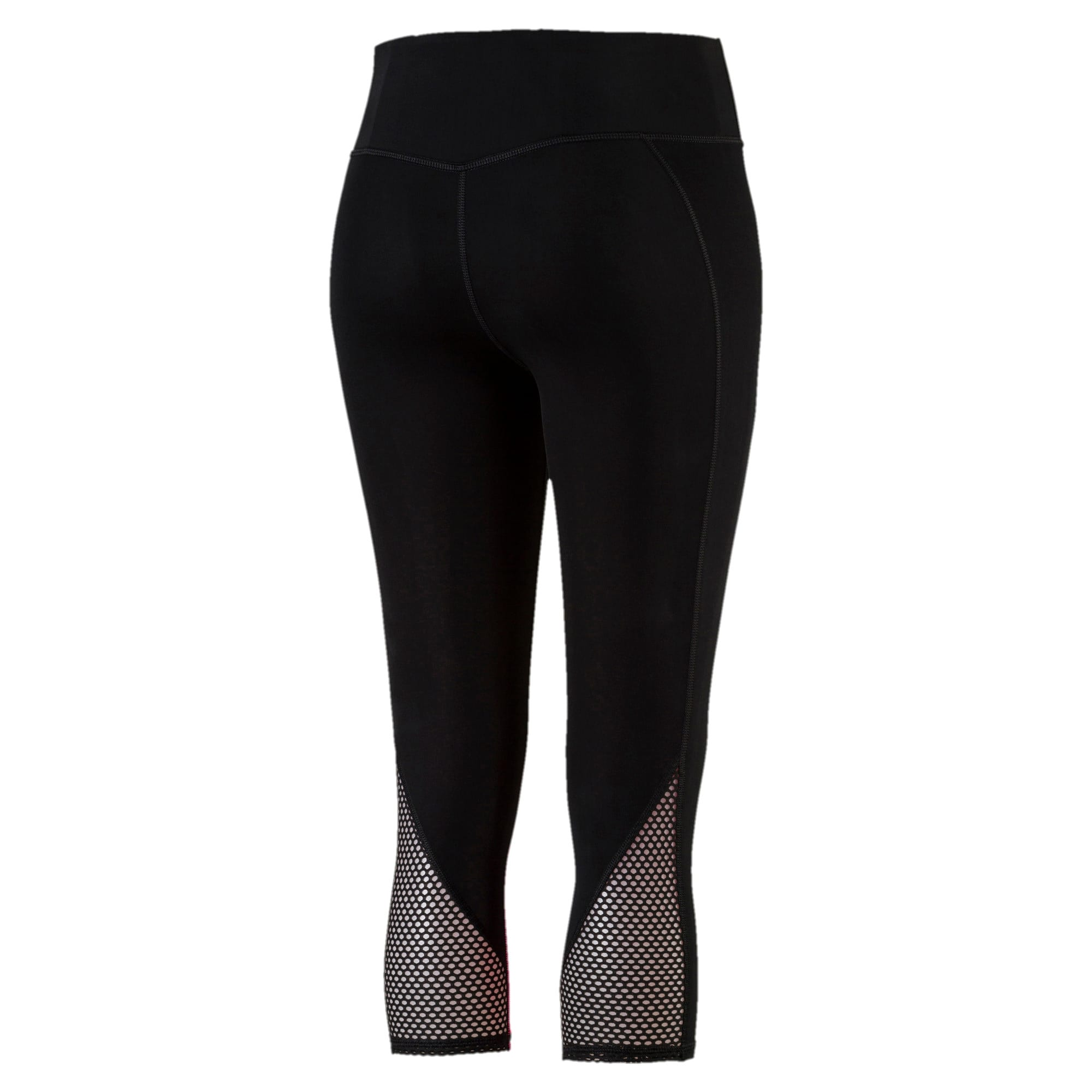 Thumbnail 5 of Active Training Women's Explosive 3/4 Tights, Puma Black-KNOCKOUT PINK, medium-IND