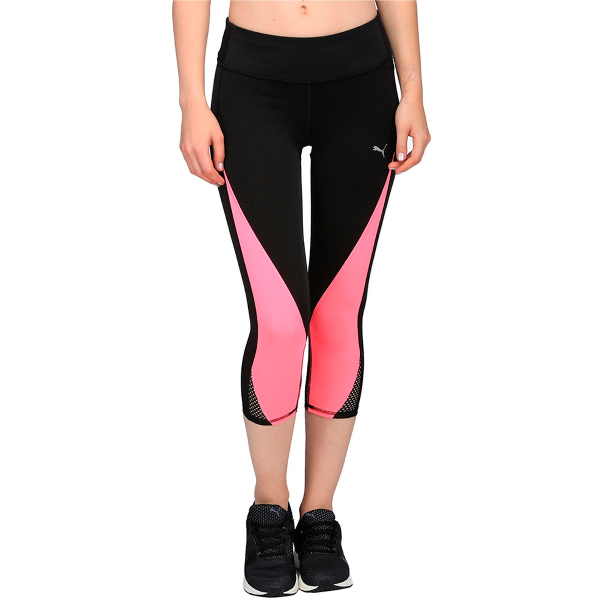 Thumbnail 2 of Active Training Women's Explosive 3/4 Tights, Puma Black-KNOCKOUT PINK, medium-IND